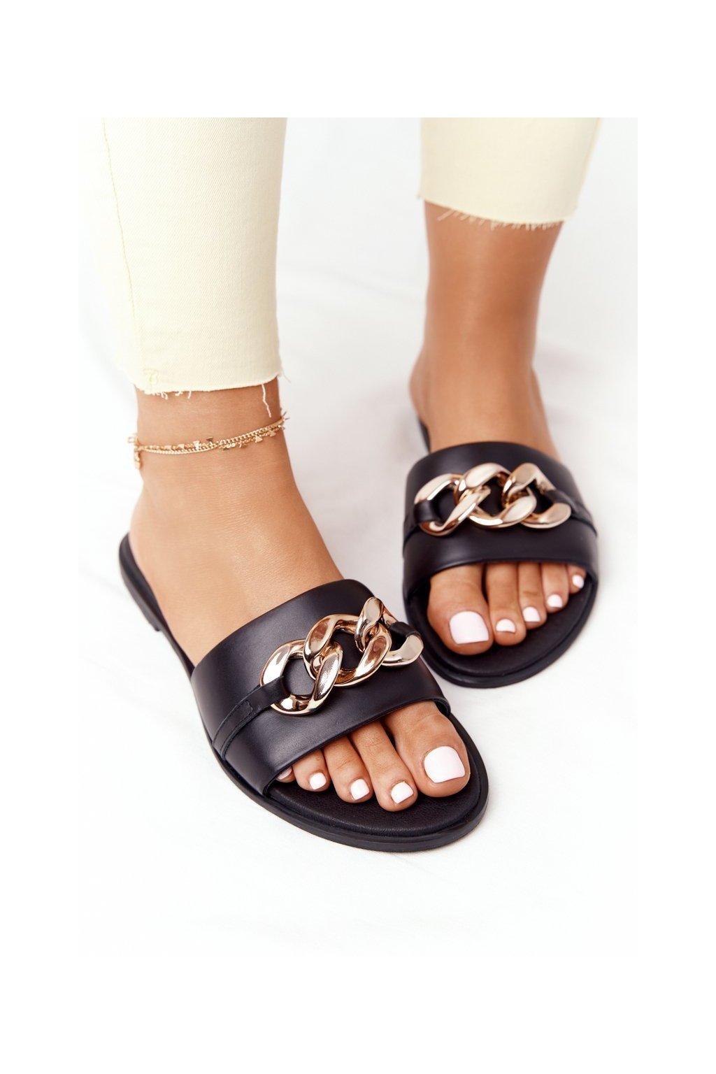 Dámske šľapky farba čierna kód obuvi 2652/001 BLK