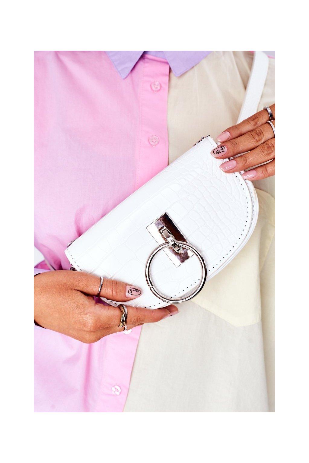 Dámska kabelka biela kód kabelky NR 112 WHITE PRINT