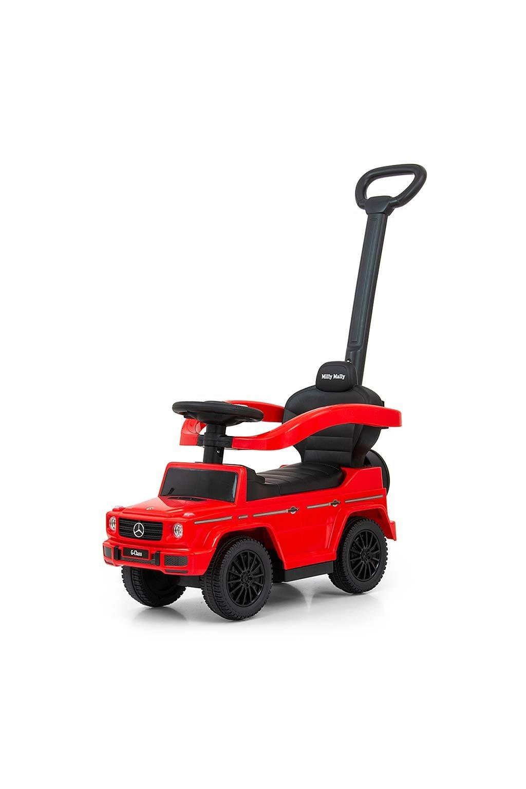Detské odrážadlo s vodiacou tyčou MERCEDES G350d Milly Mally červené