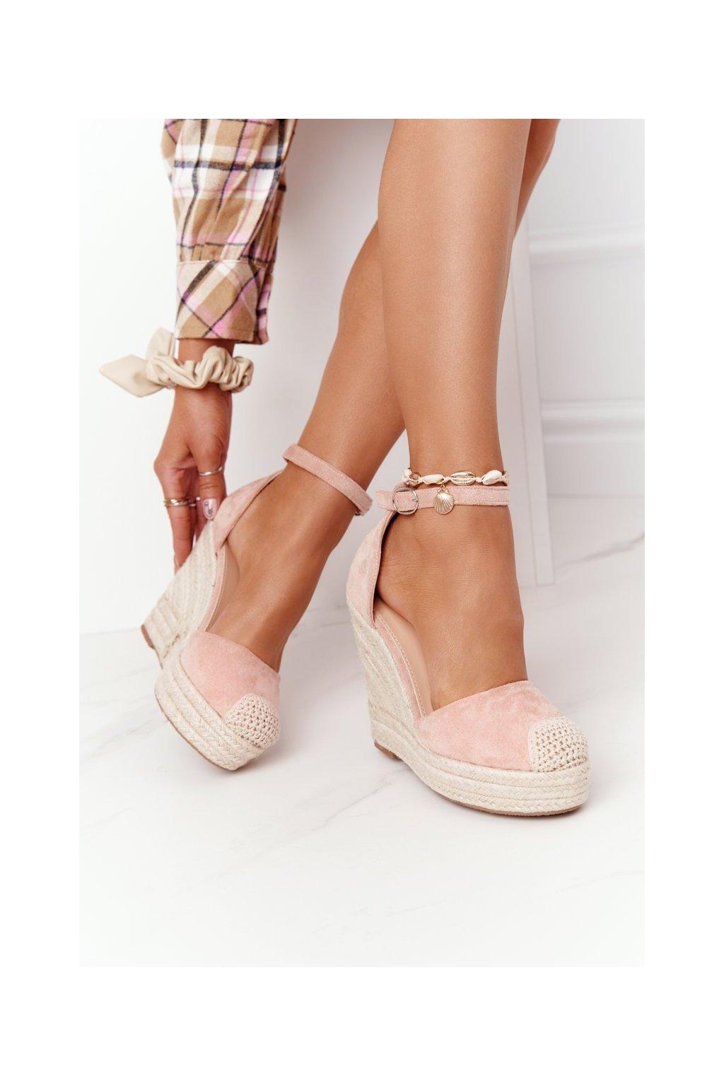 Dámske sandále na platforme farba ružová kód obuvi BL1919-11 PINK