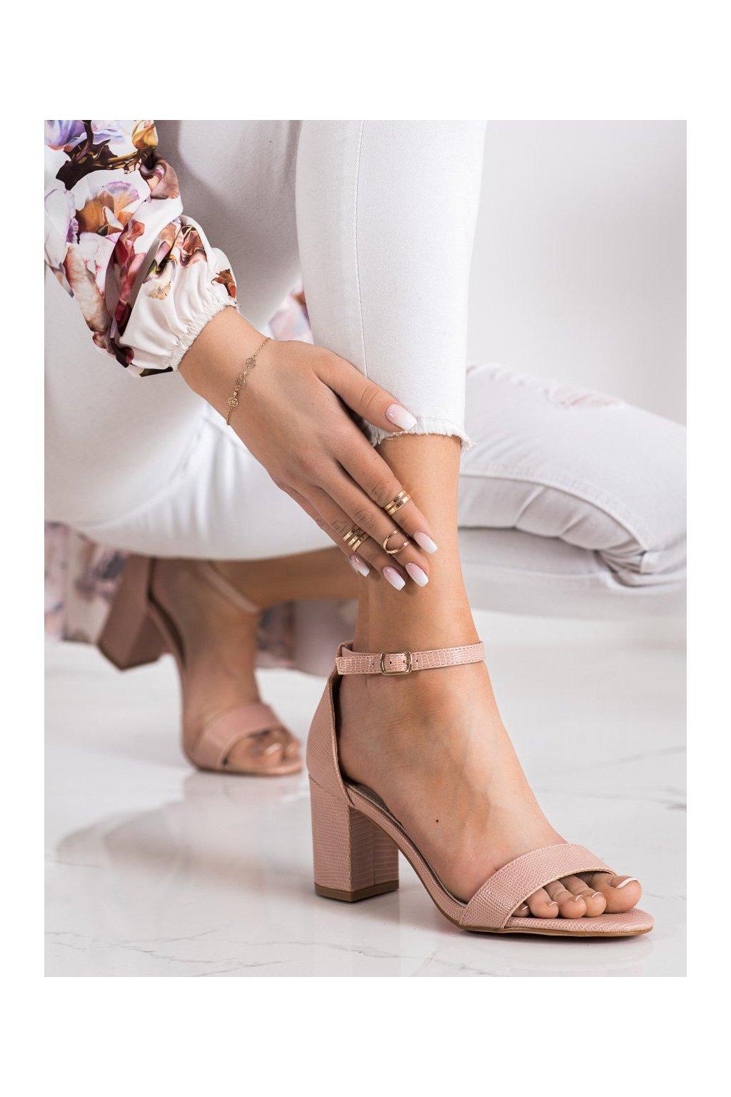 Ružové sandále na podpätku Goodin kod GD-XR-208P