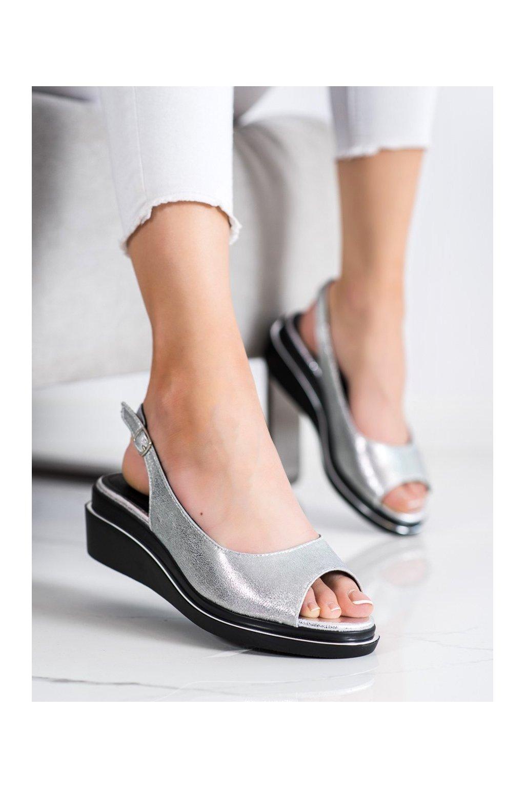Sivé sandále na platforme Goodin kod GD-XR-301S
