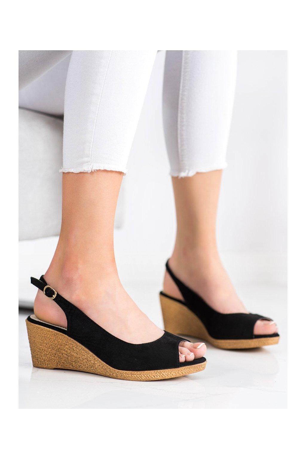Čierne sandále na platforme Goodin kod GD-FL653B
