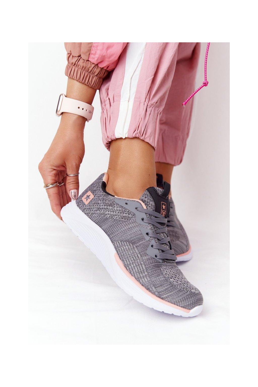 Dámske tenisky farba biela kód obuvi 21SP37-3564 DK.GREY