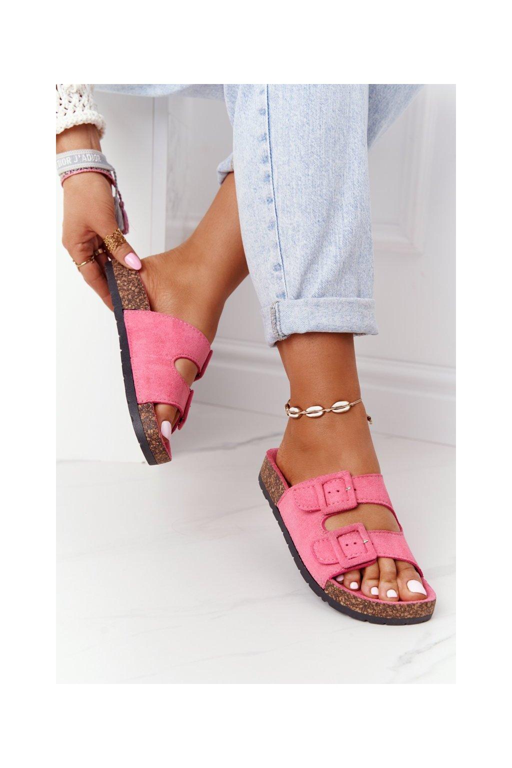 Dámske šľapky farba ružová kód obuvi DZ109-15 M.PEACH