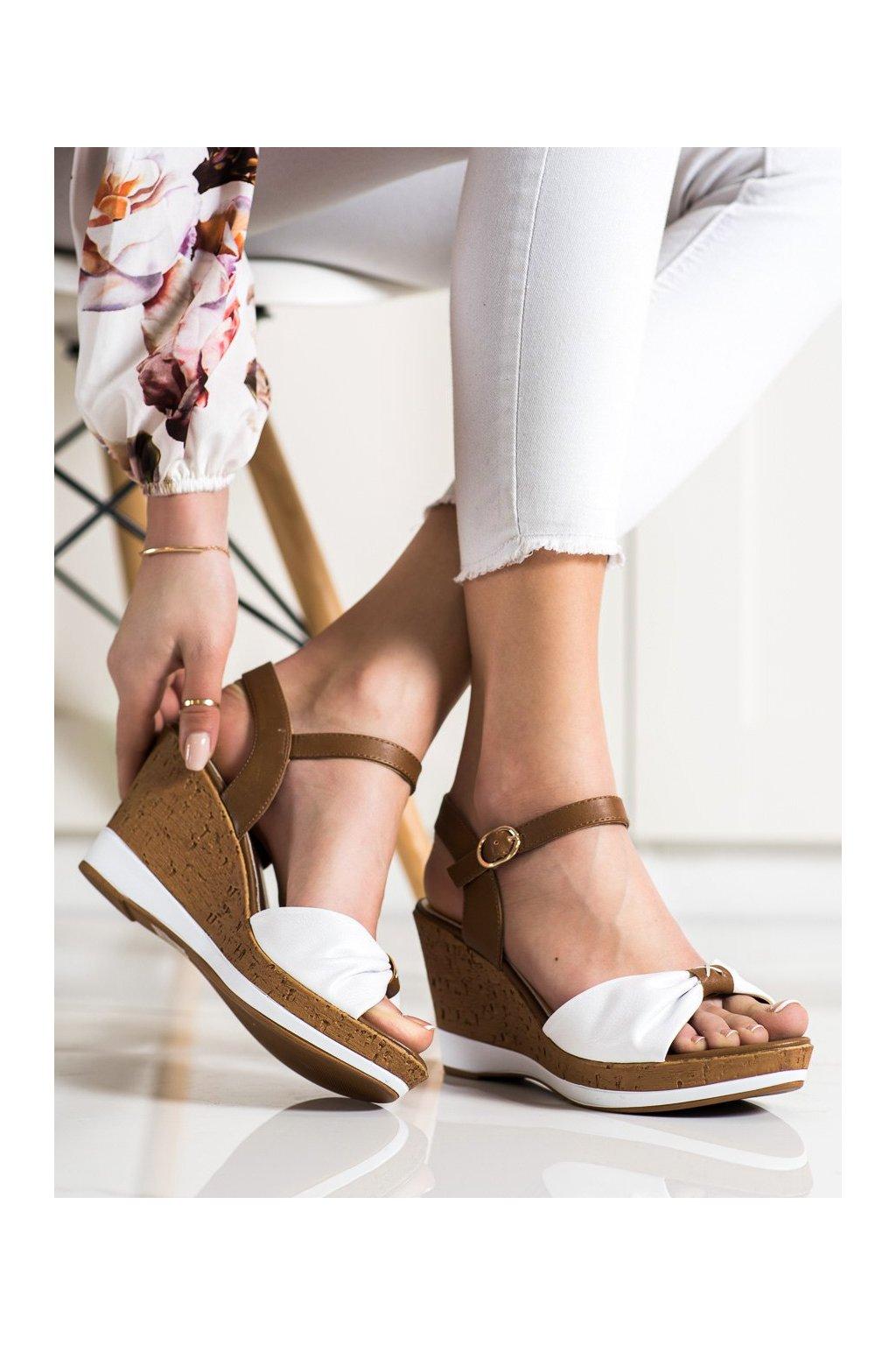 Hnedé sandále na platforme Sergio leone kod SK316W