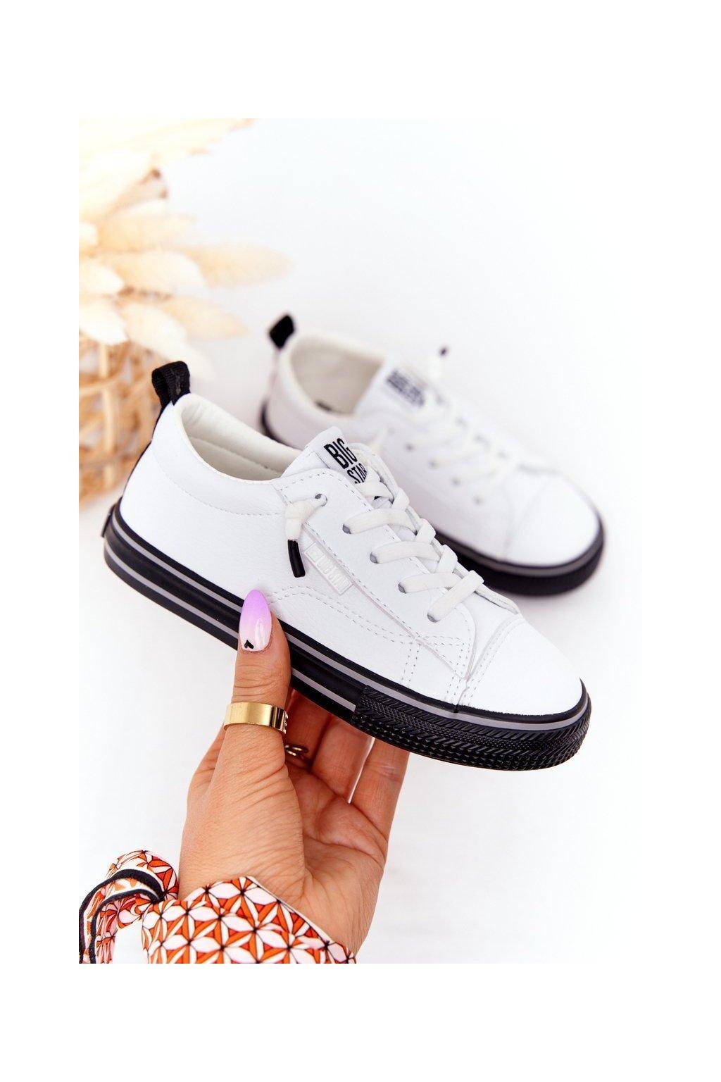 Detské tenisky farba čierna kód obuvi HH374037 WHITE