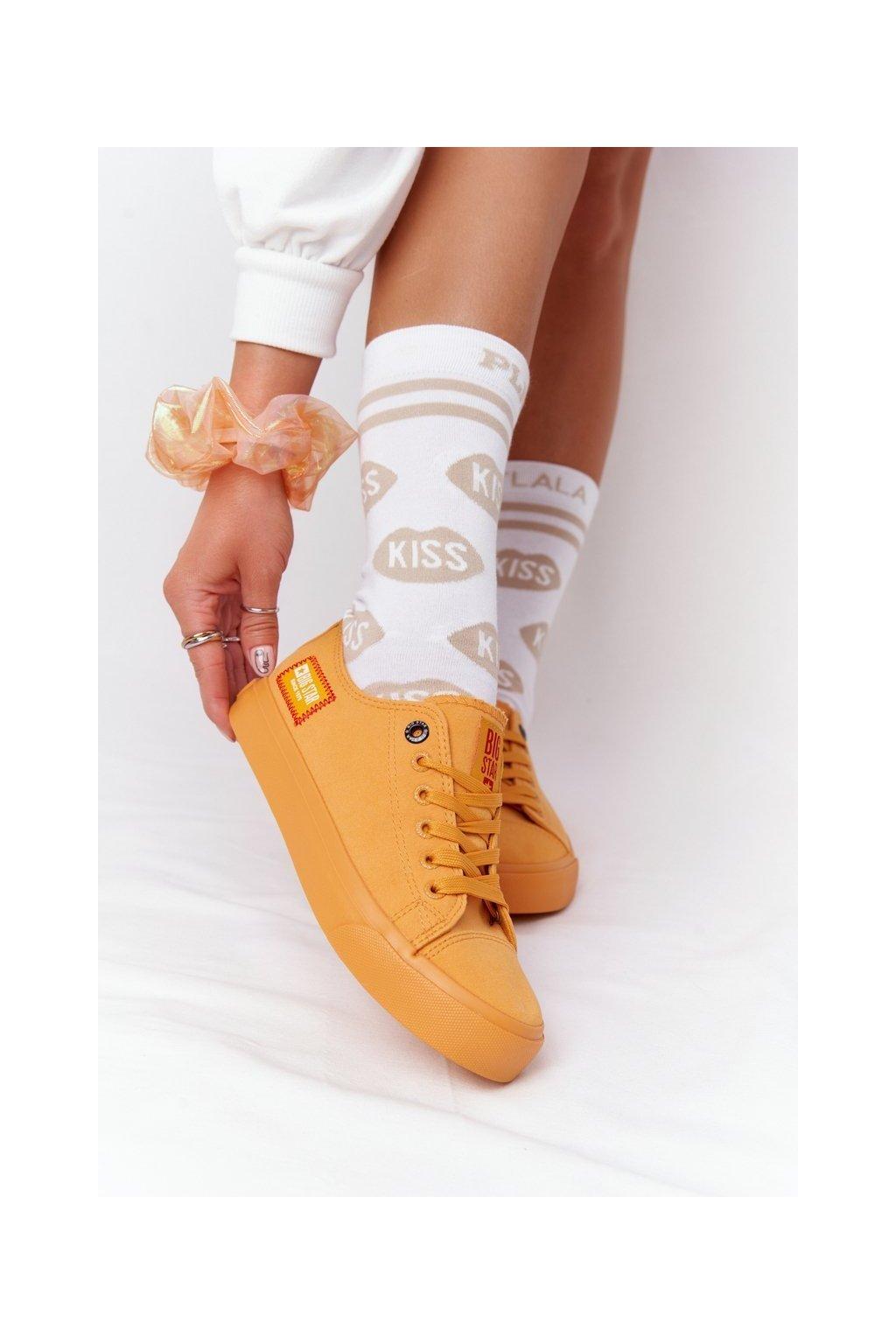 Dámske tenisky farba žltá kód obuvi HH274134 YELLOW