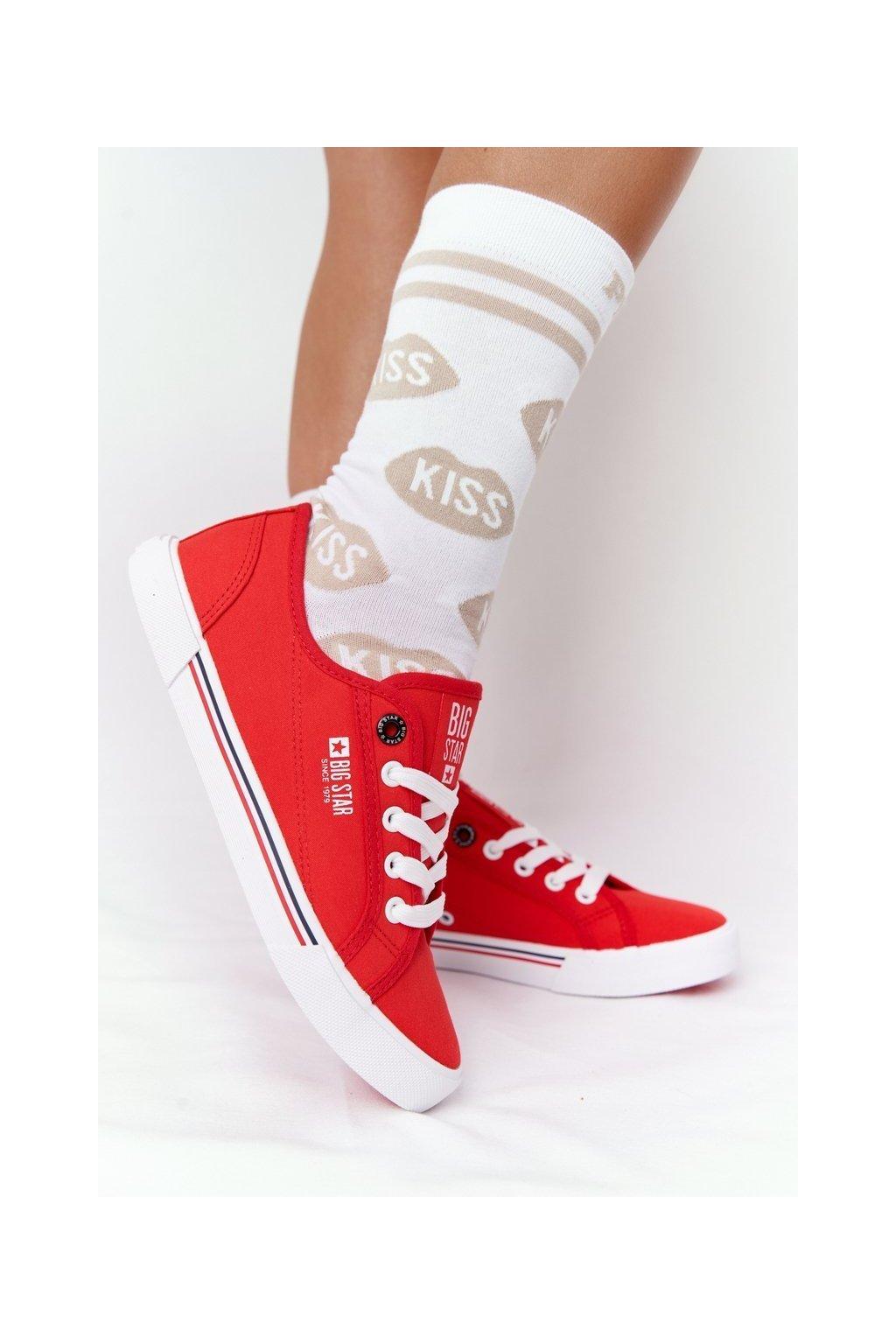 Dámske tenisky farba červená kód obuvi HH274061 RED