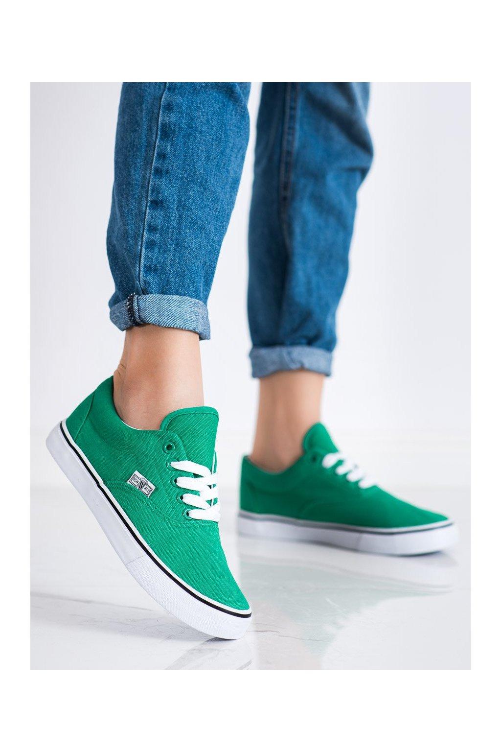 Zelené tenisky New age kod 086GR-GR