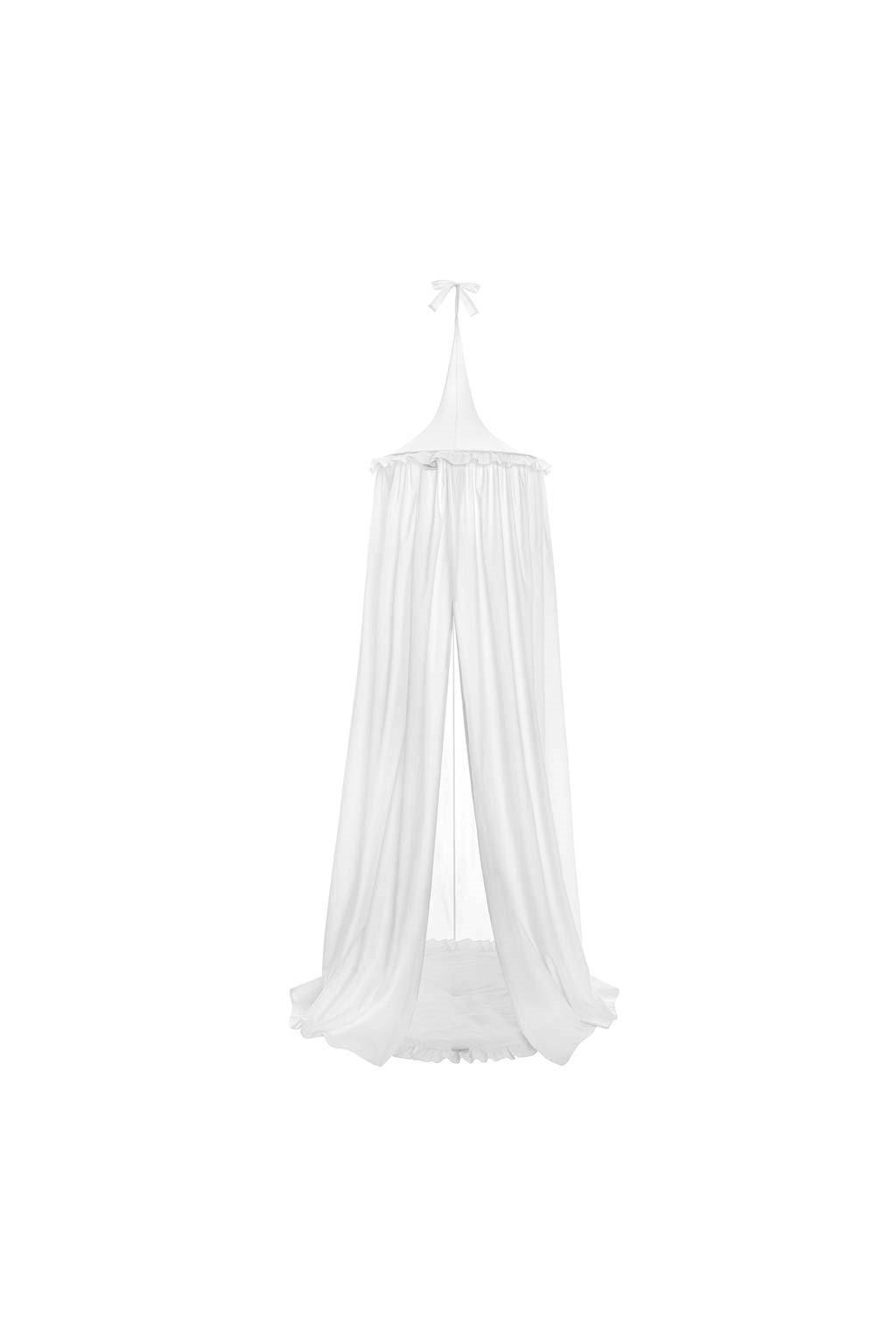 Závesný stropný luxusný baldachýn + podložka Belisima biely