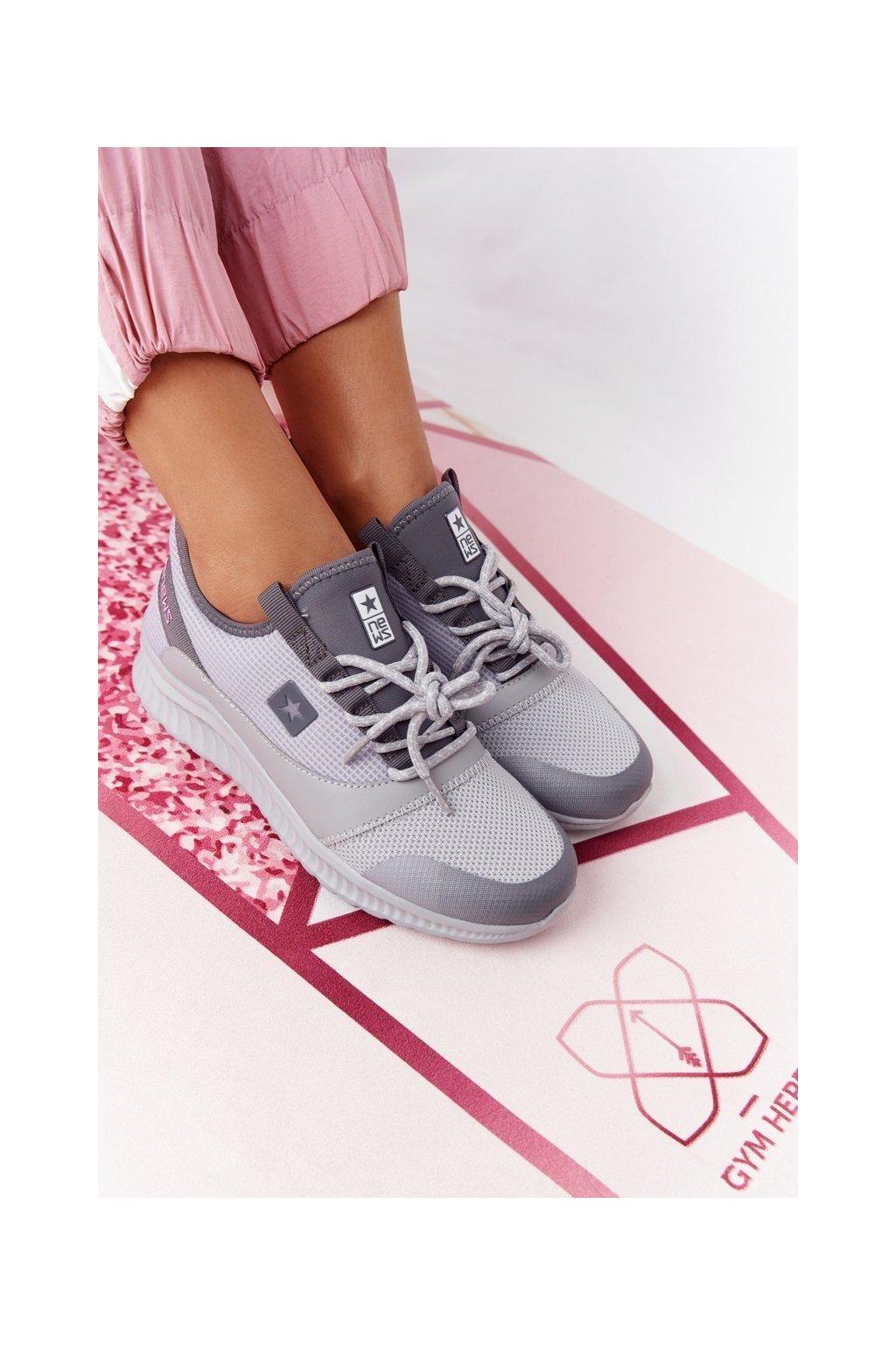 Dámske tenisky farba sivá kód obuvi 21SP37-3560 LT.GREY