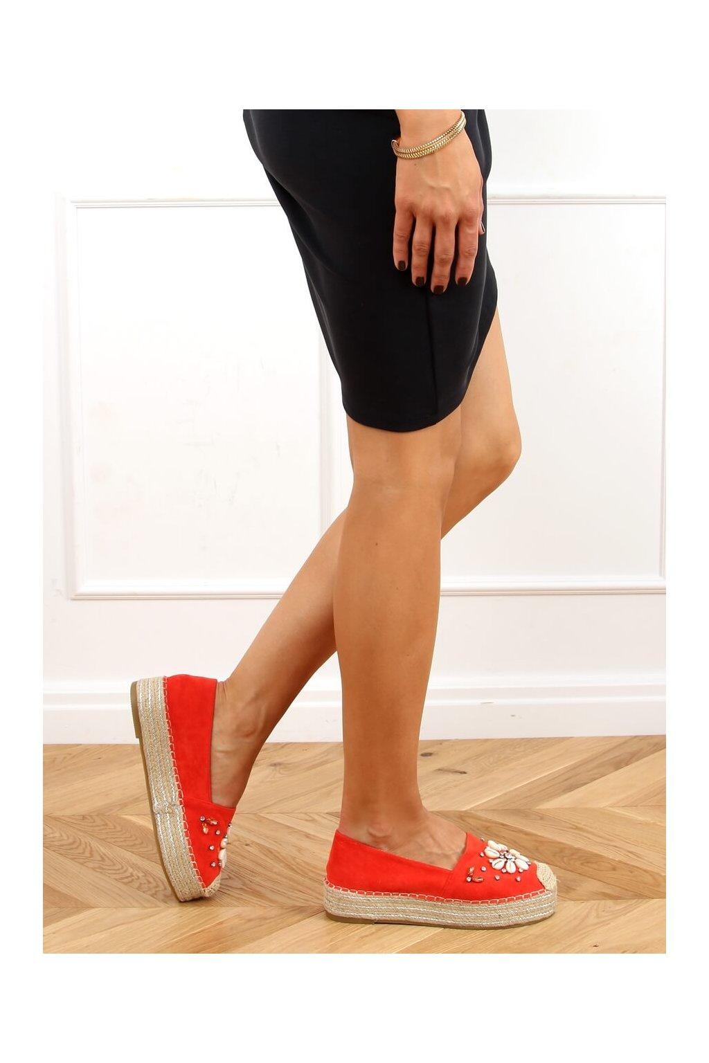 Dámske sandále oranžové na plochom podpätku 2798