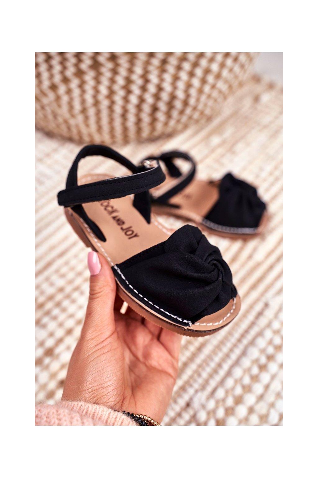 Detské sandále farba čierna NJSK 233 BLK