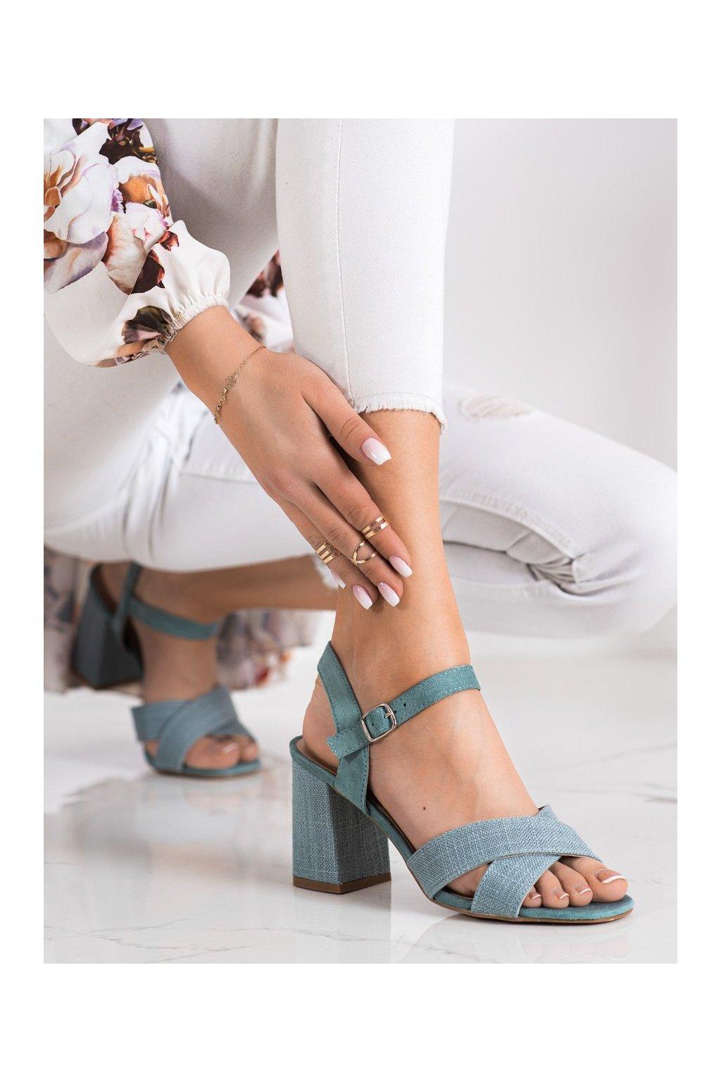 Zelené sandále na podpätku Vinceza kod YQE21-17125GR