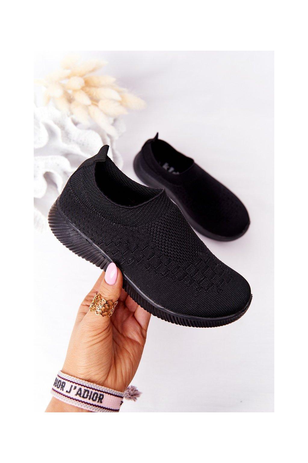 Detské tenisky farba čierna kód obuvi 9DZ02-1041-D BLACK