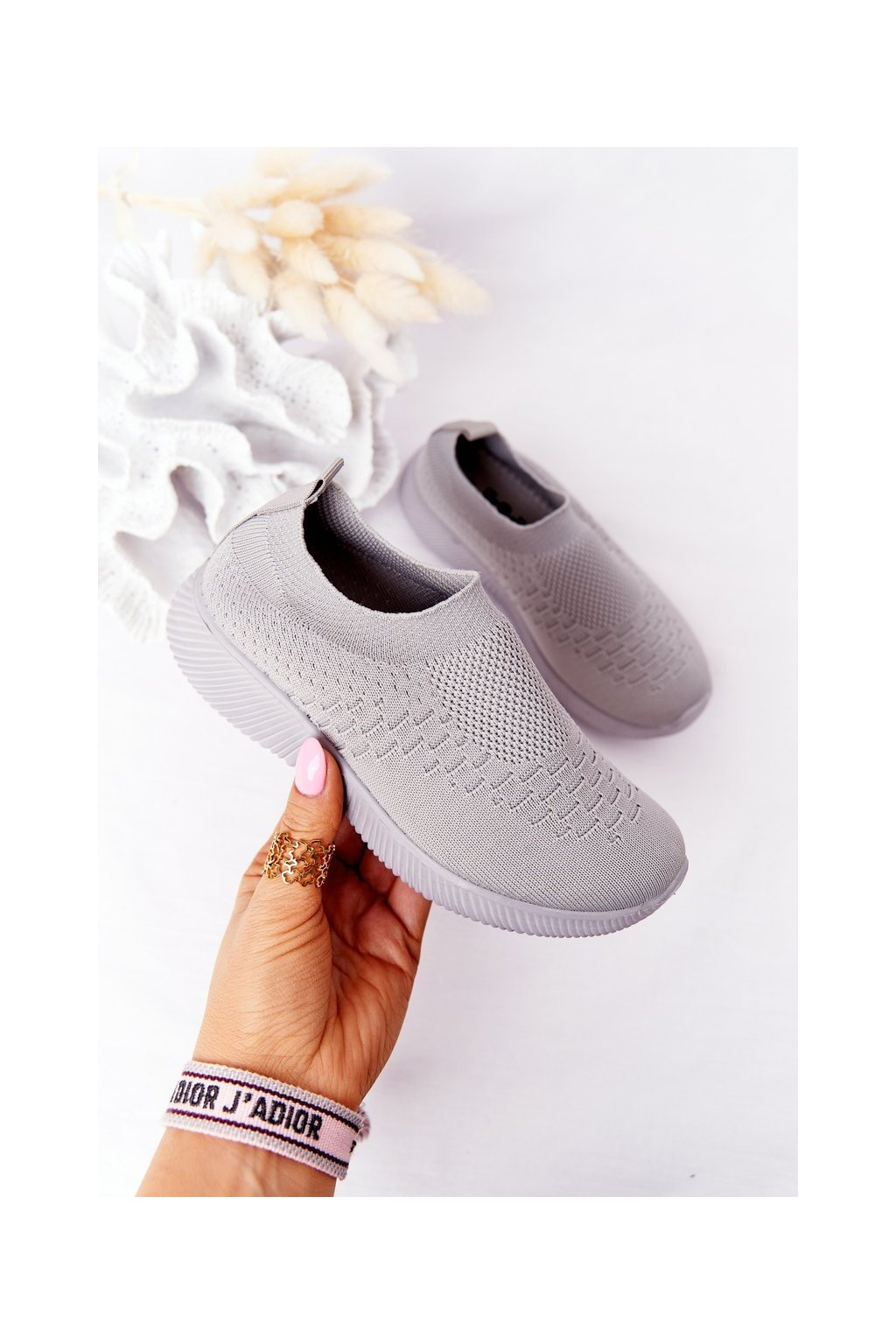 Detské tenisky farba sivá kód obuvi 9DZ02-1041-D GREY