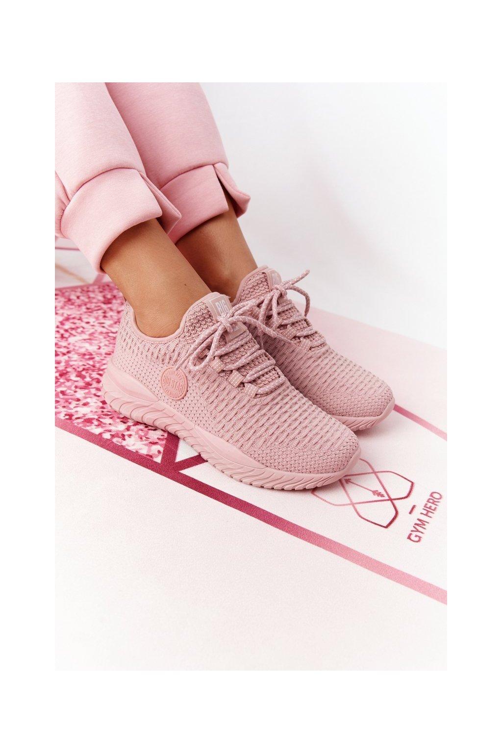 Dámske tenisky farba ružová kód obuvi HH274299 NUDE