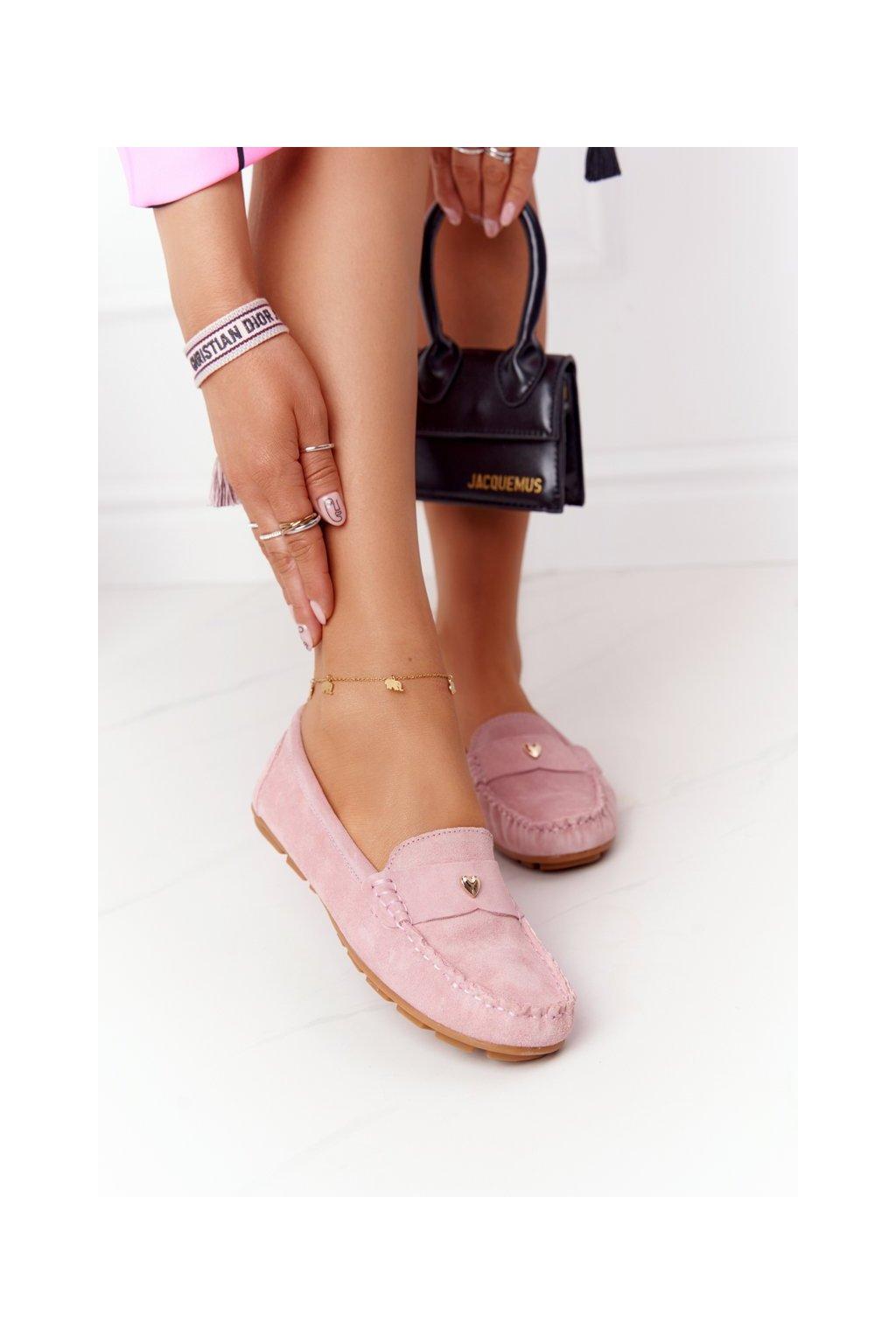 Dámske mokasíny farba ružová kód obuvi 97609 PINK