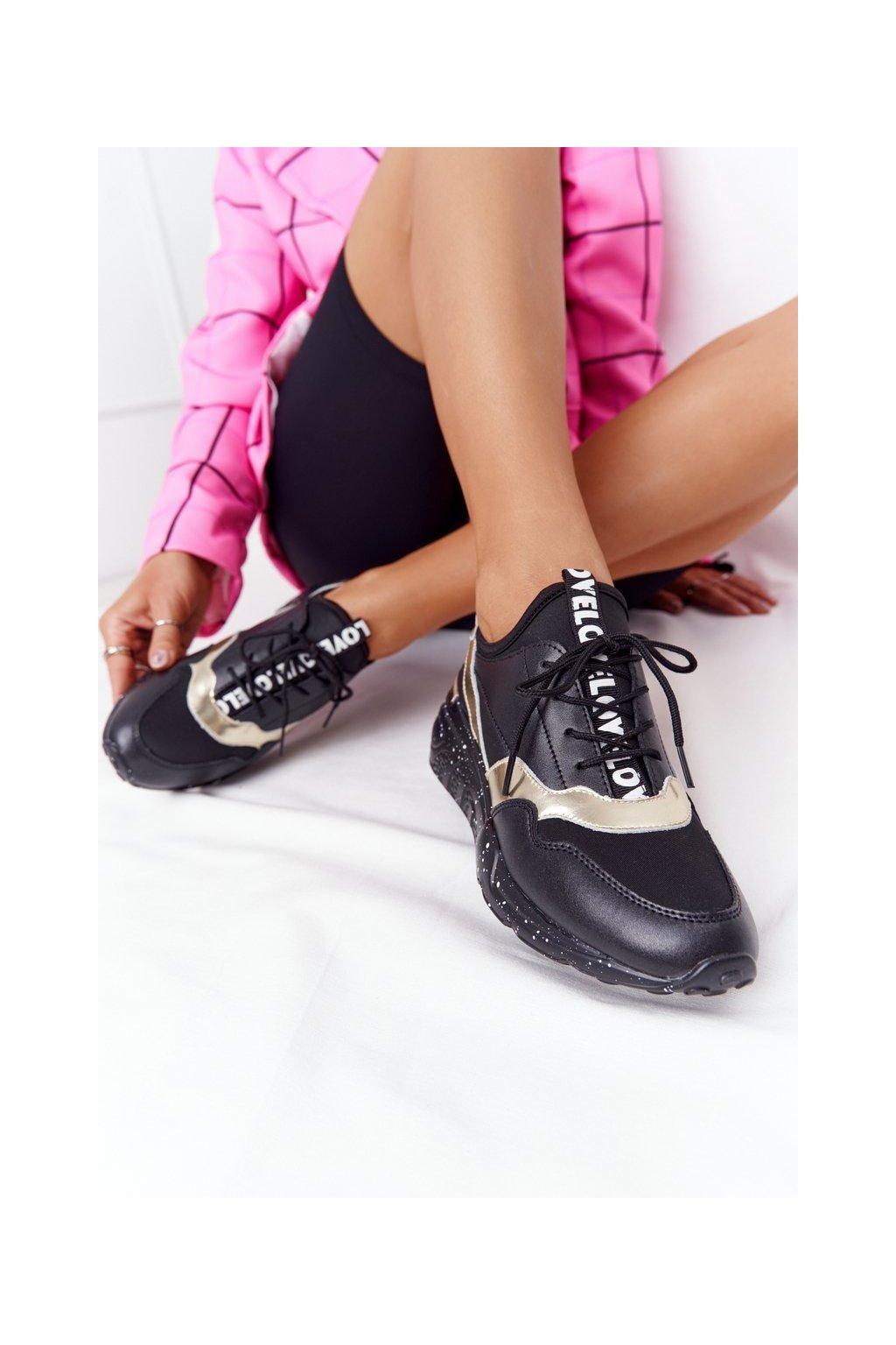 Dámske tenisky farba žltá kód obuvi 97819 BLACK