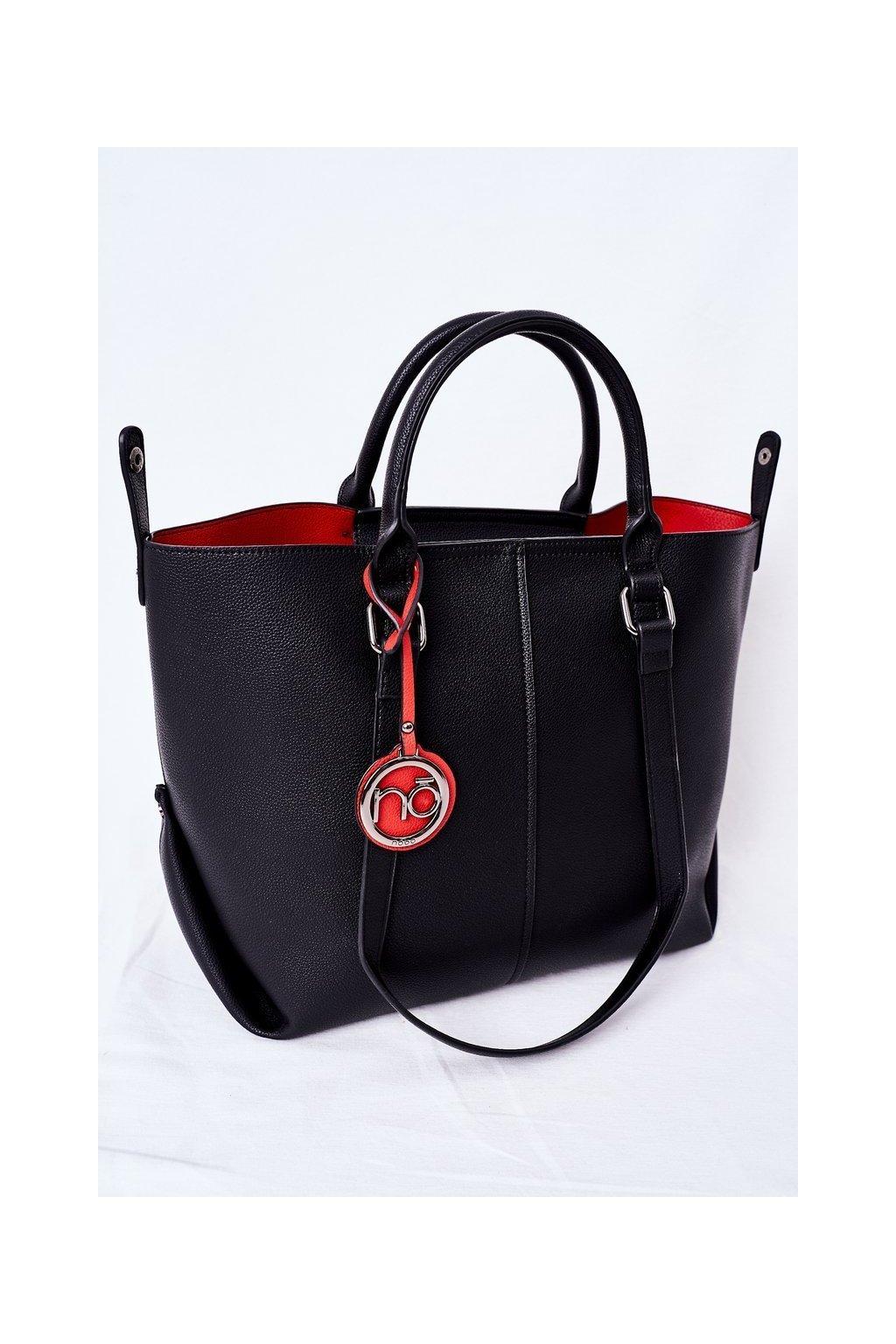 Dámska kabelka čierna kód kabelky NBAG-K2300-C020 BLACK/RED