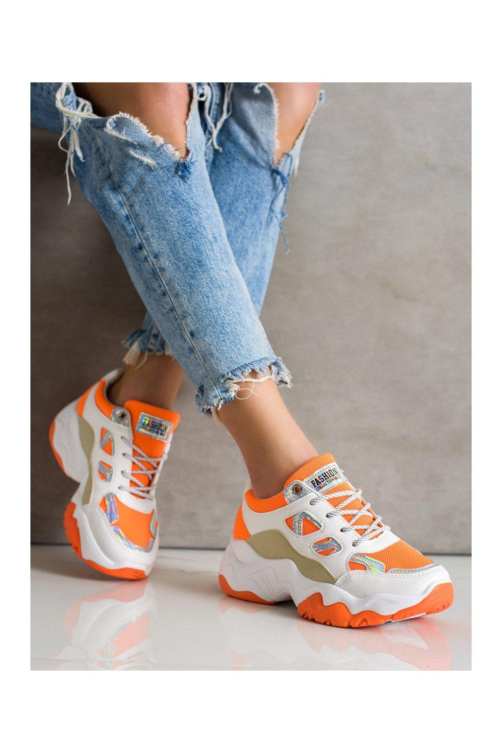 Oranžové tenisky Shelovet kod NB323OR
