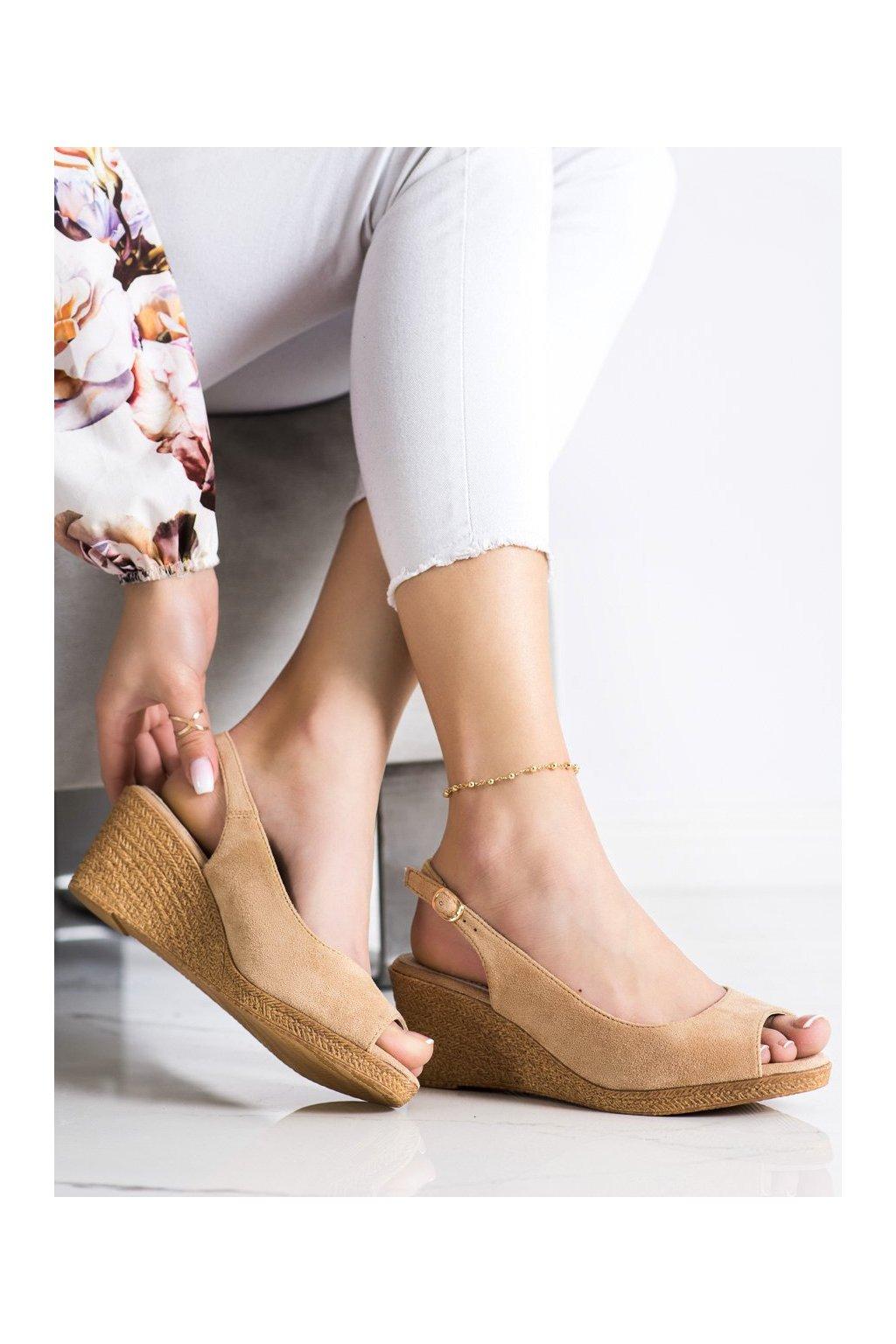 Hnedé sandále na platforme Goodin kod GD-FL653D.BE