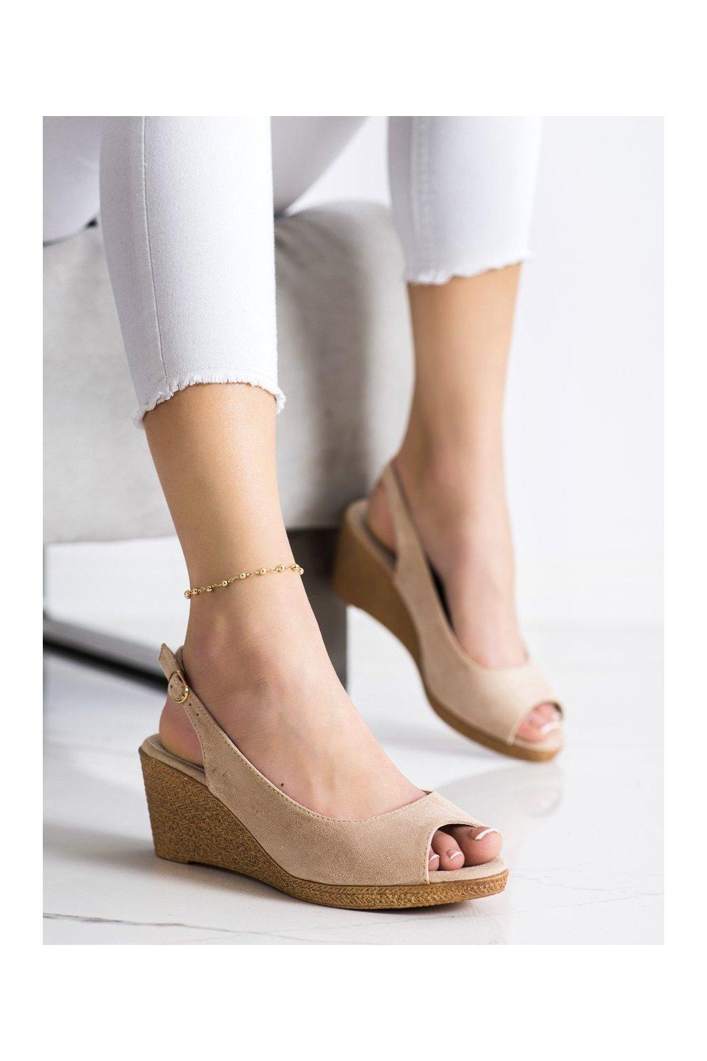 Hnedé sandále na platforme Goodin kod GD-FL653BE