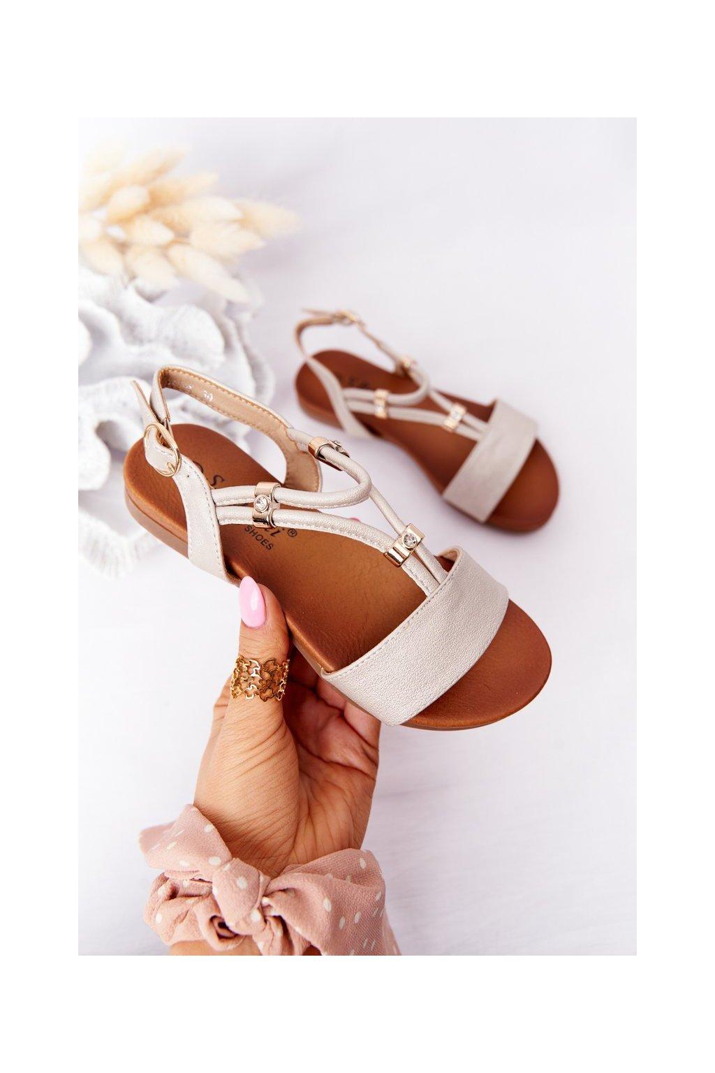 Detské sandále farba hnedá kód obuvi 5541-5 BEIGE