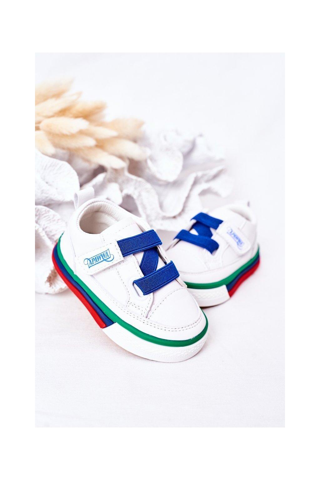 Detské tenisky farba biela kód obuvi GC05 GC52 NAVY