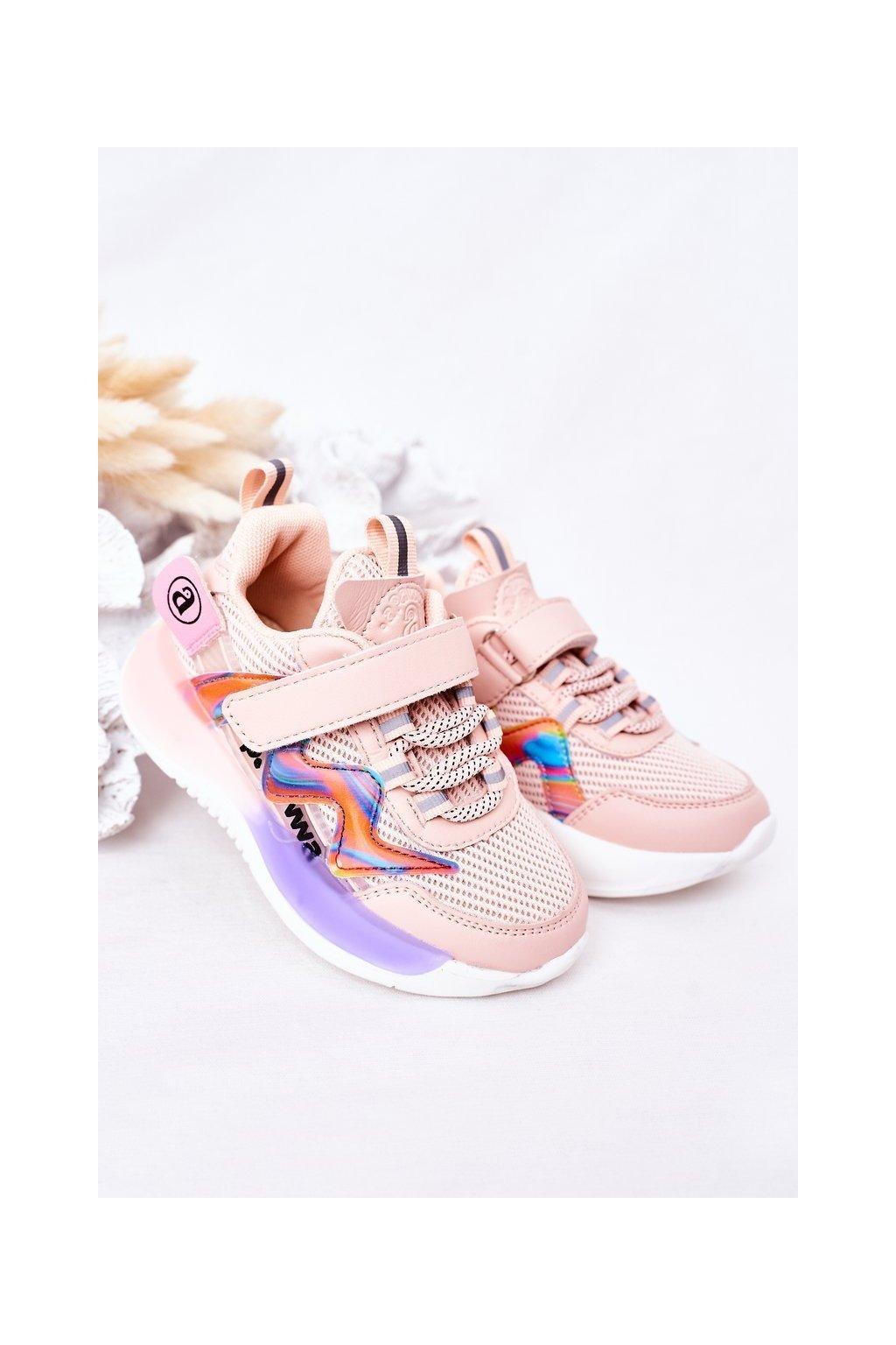 Detské tenisky farba ružová kód obuvi GC27 GC28 PINK