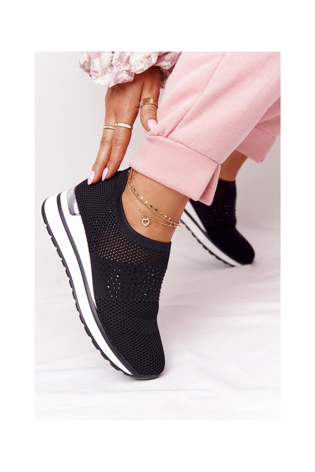 Dámske tenisky farba čierna kód obuvi HO261 BLACK