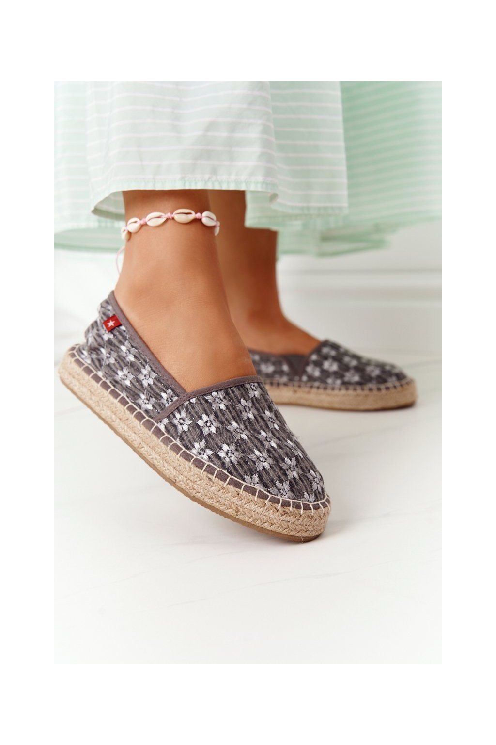 Dámske tenisky farba sivá kód obuvi AA274680 GREY