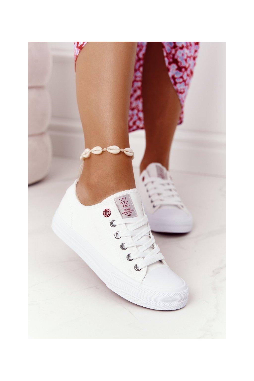 Dámske tenisky farba biela kód obuvi HH2R4017C WHITE