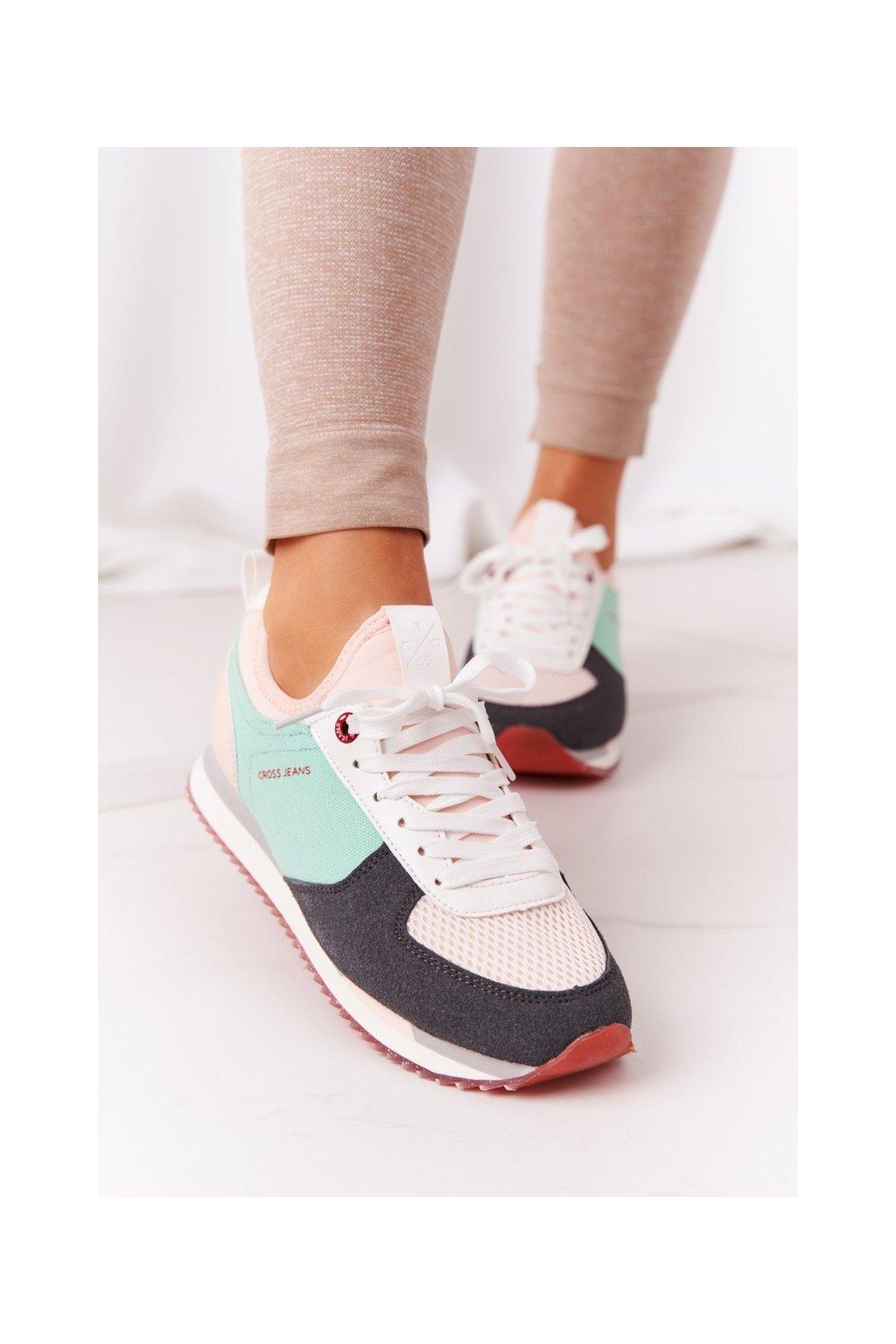 Dámske tenisky farba ružová kód obuvi HH2R4049C PINK/GREY/GREEN