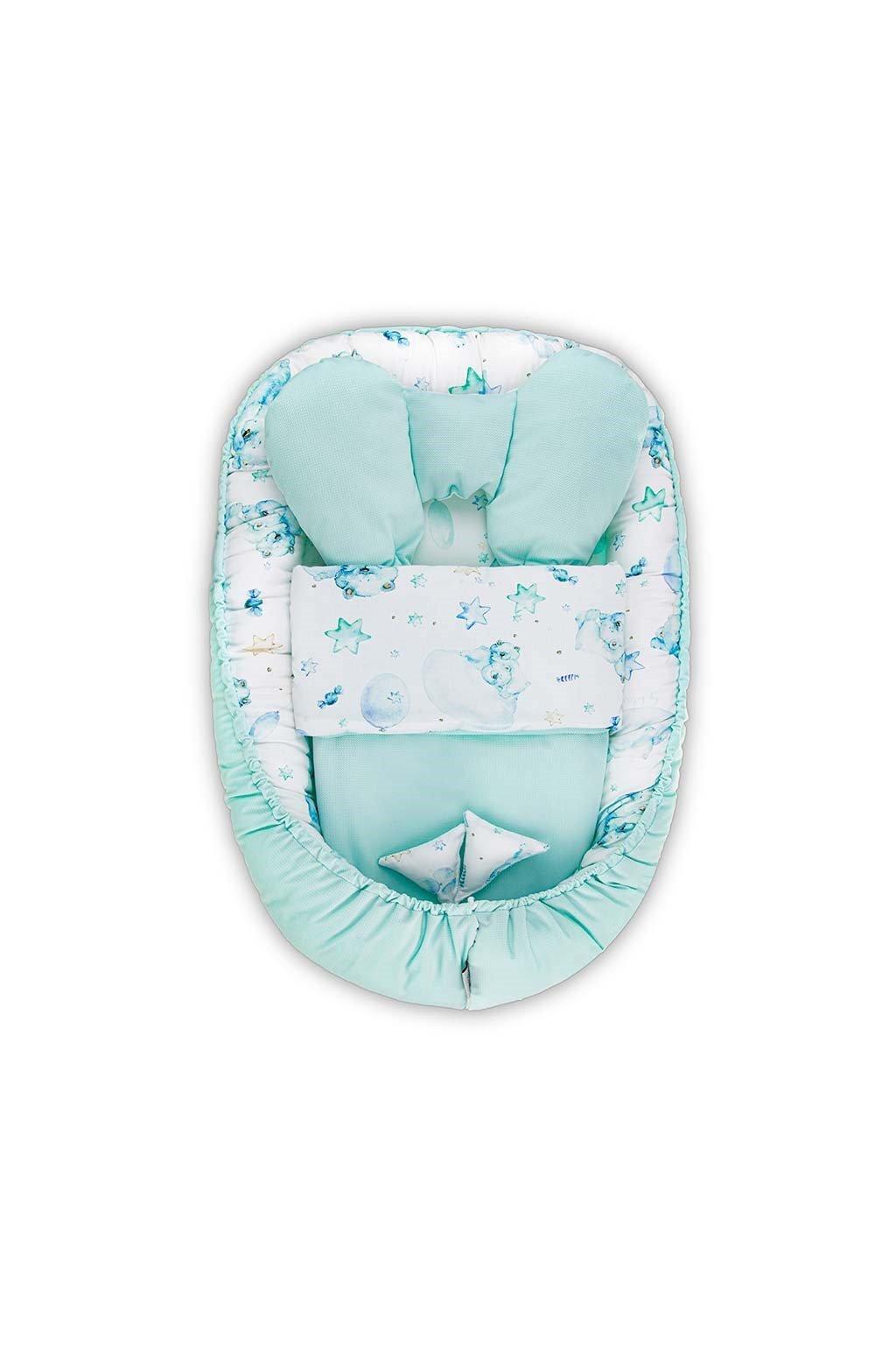 Hniezdočko s perinkou pre bábätko Velvet Belisima Sleeping bears