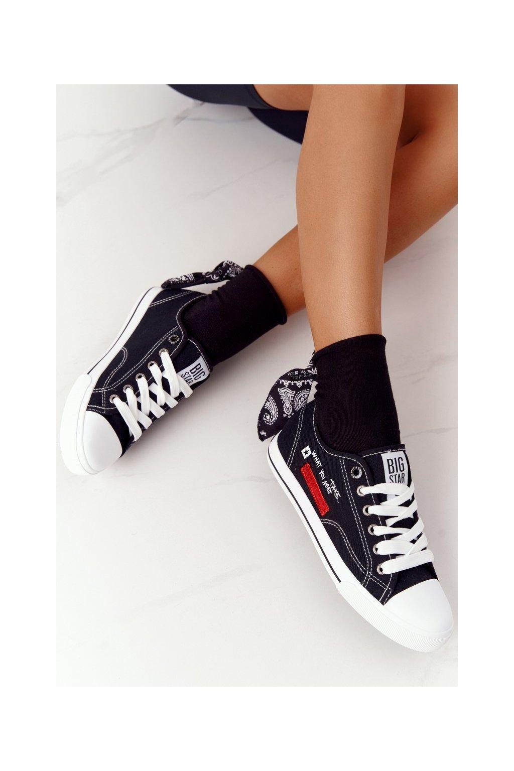Dámske tenisky farba čierna kód obuvi FF274082 BLACK