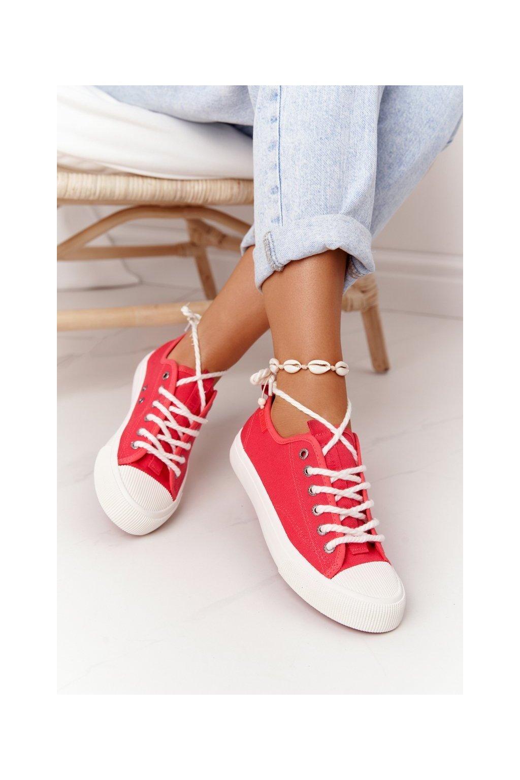 Dámske tenisky farba červená kód obuvi FF274185 RED