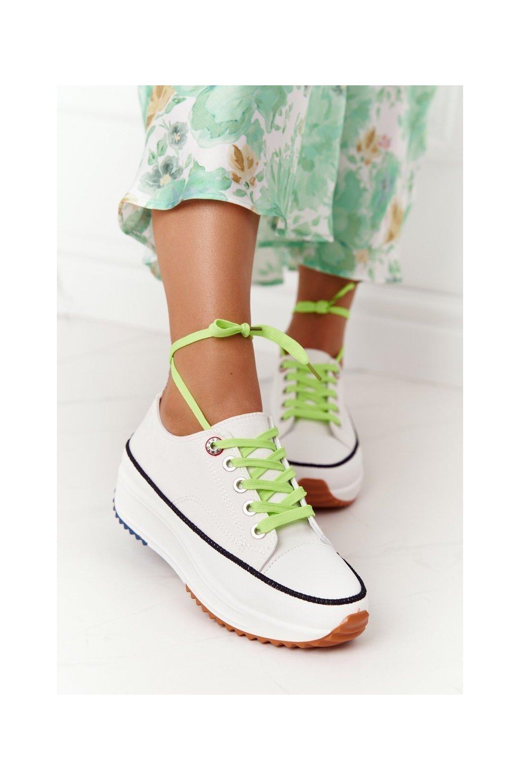 Dámske tenisky farba biela kód obuvi 20SP26-1671 WHITE