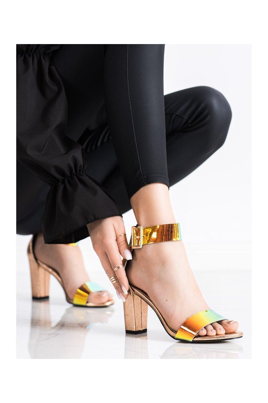Žlté sandále na podpätku Goodin kod GD-FL1066CHA