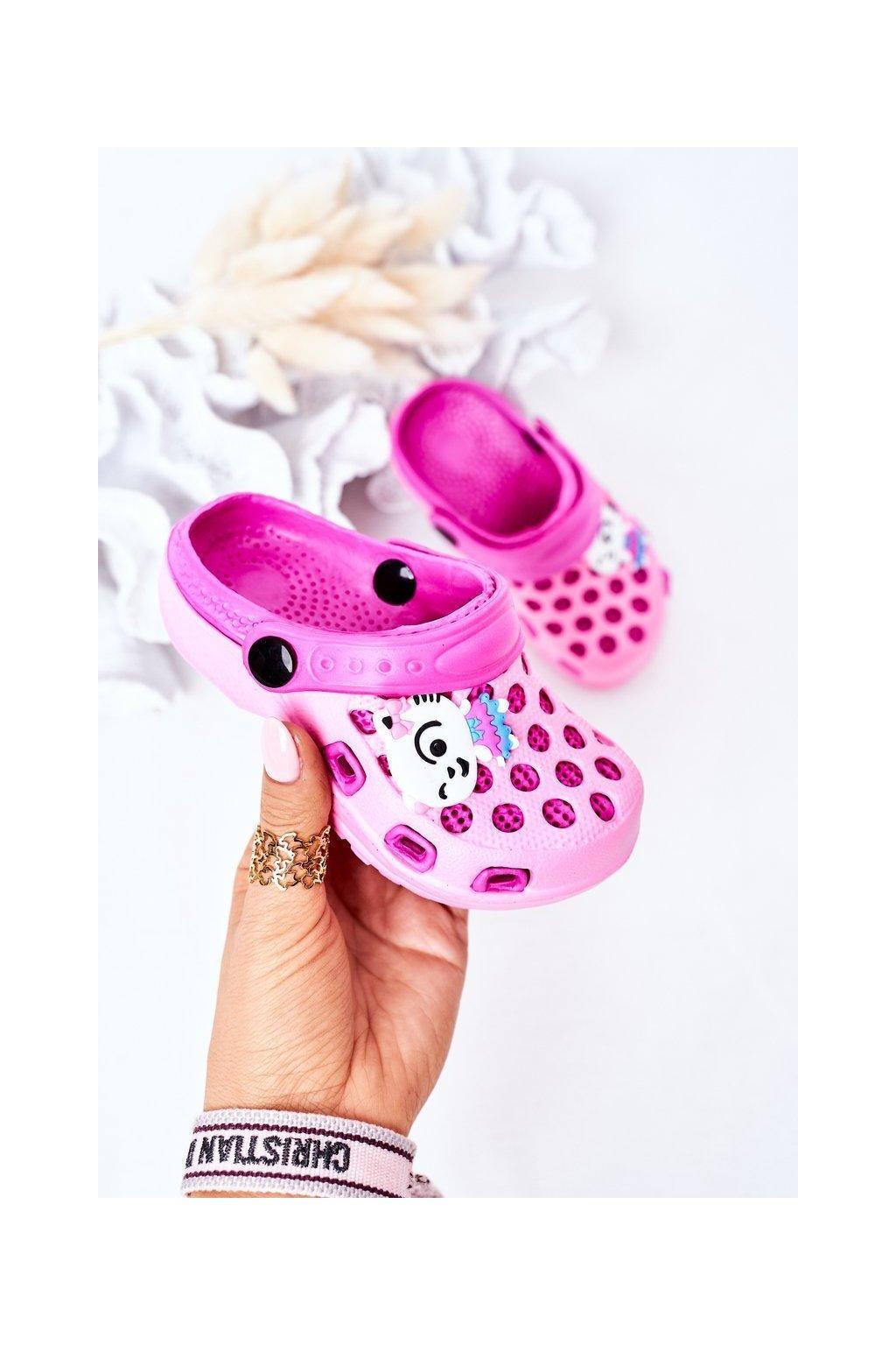 Detské šľapky farba ružová kód obuvi GY1008D PINK
