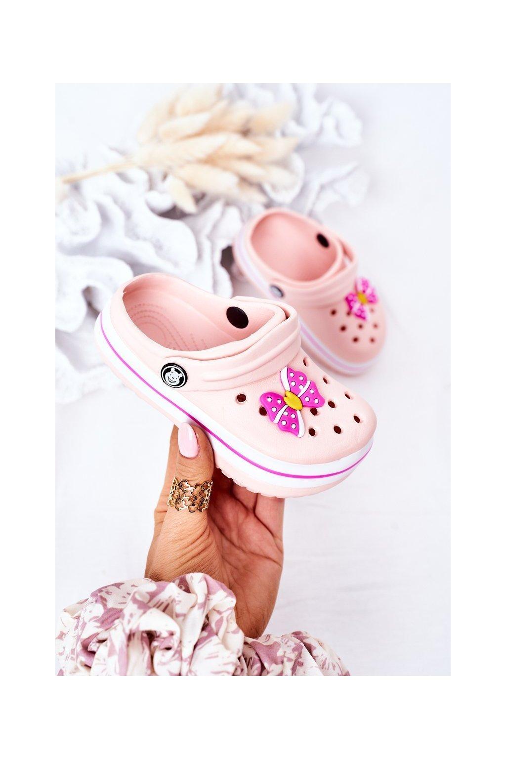 Detské šľapky farba ružová kód obuvi 8843CC PINK