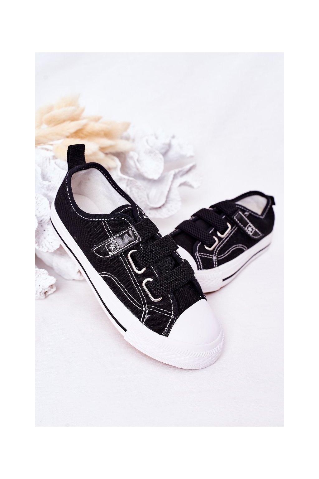 Detské tenisky farba čierna kód obuvi 21DZ35-3584 BLACK