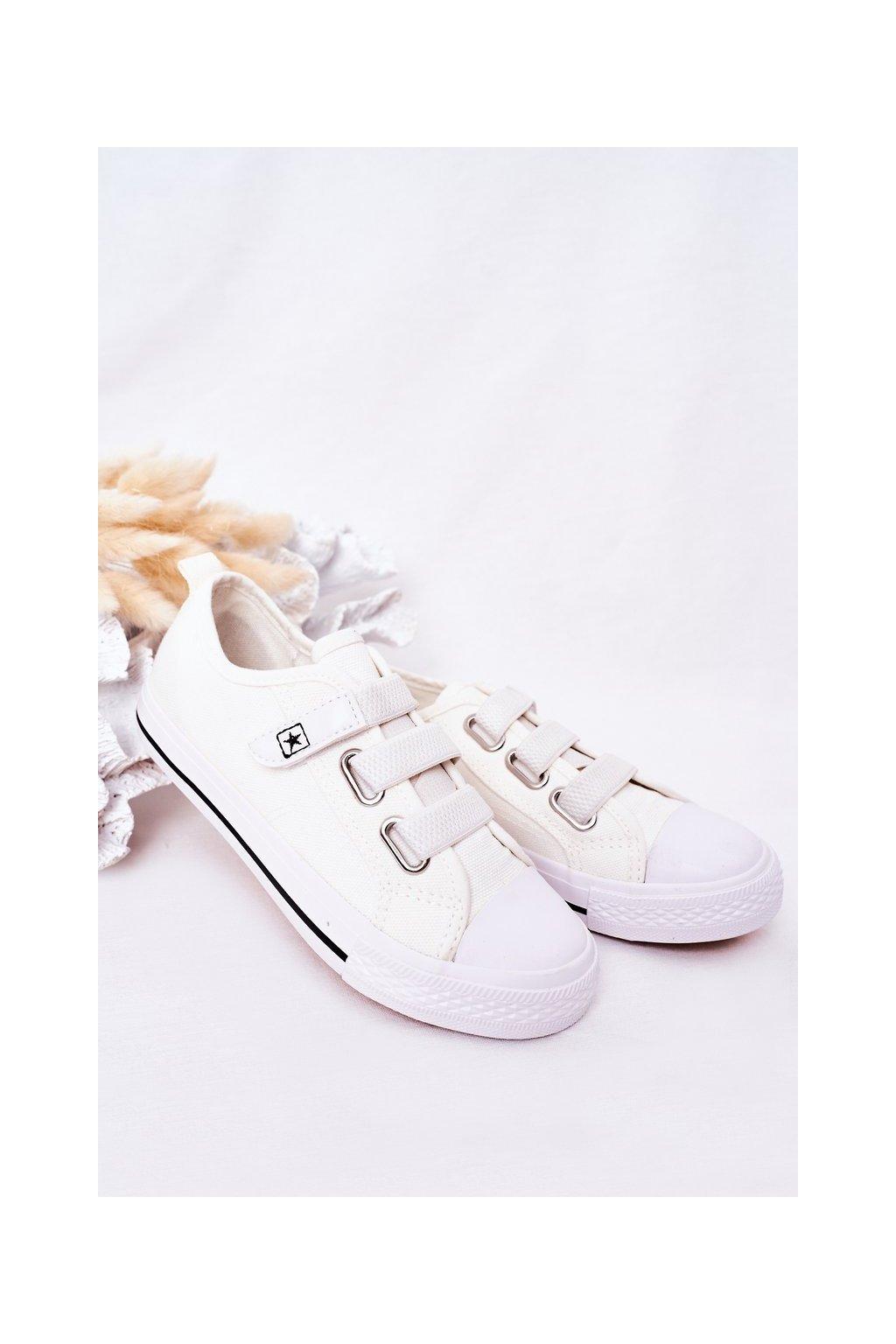 Detské tenisky farba biela kód obuvi 21DZ35-3584 WHITE