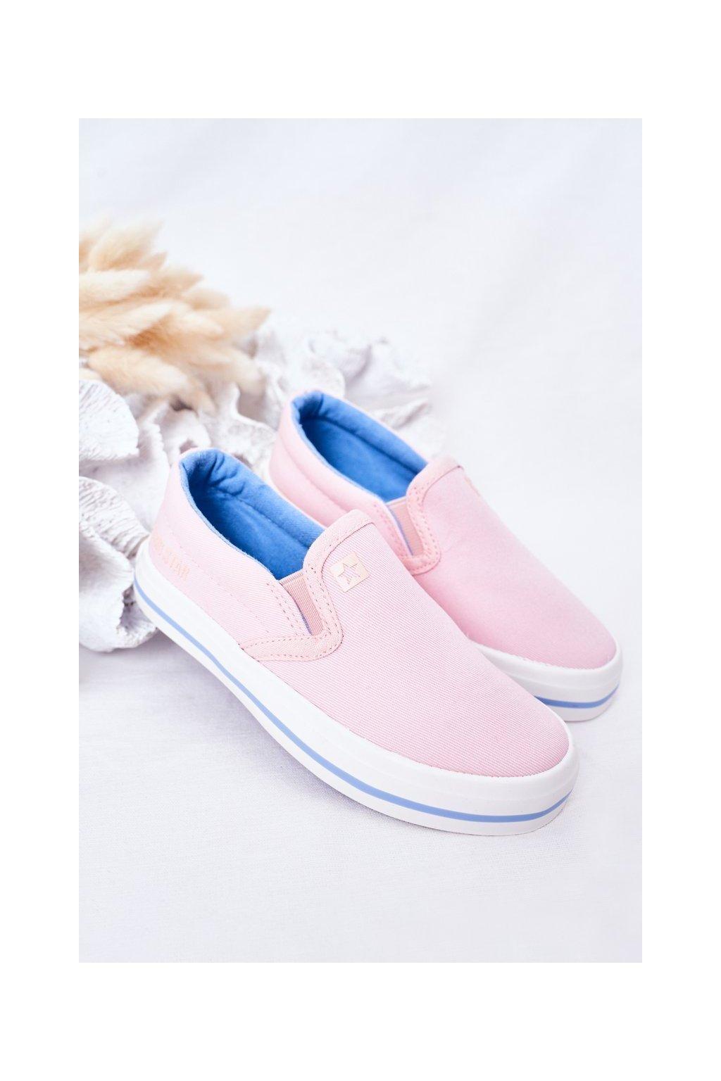 Detské tenisky farba ružová kód obuvi HH374009 PINK