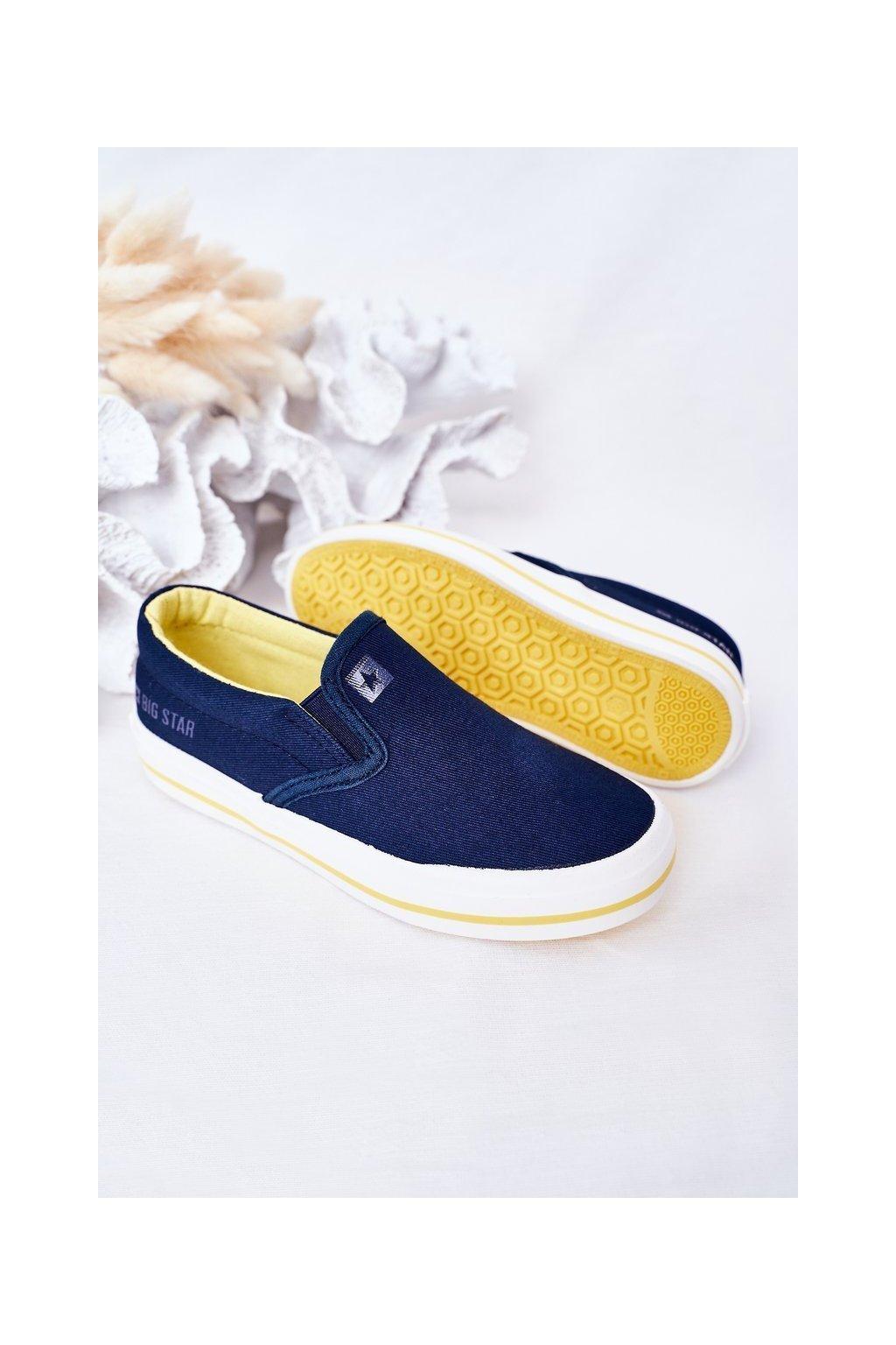 Detské tenisky farba modrá kód obuvi HH374011 NAVY