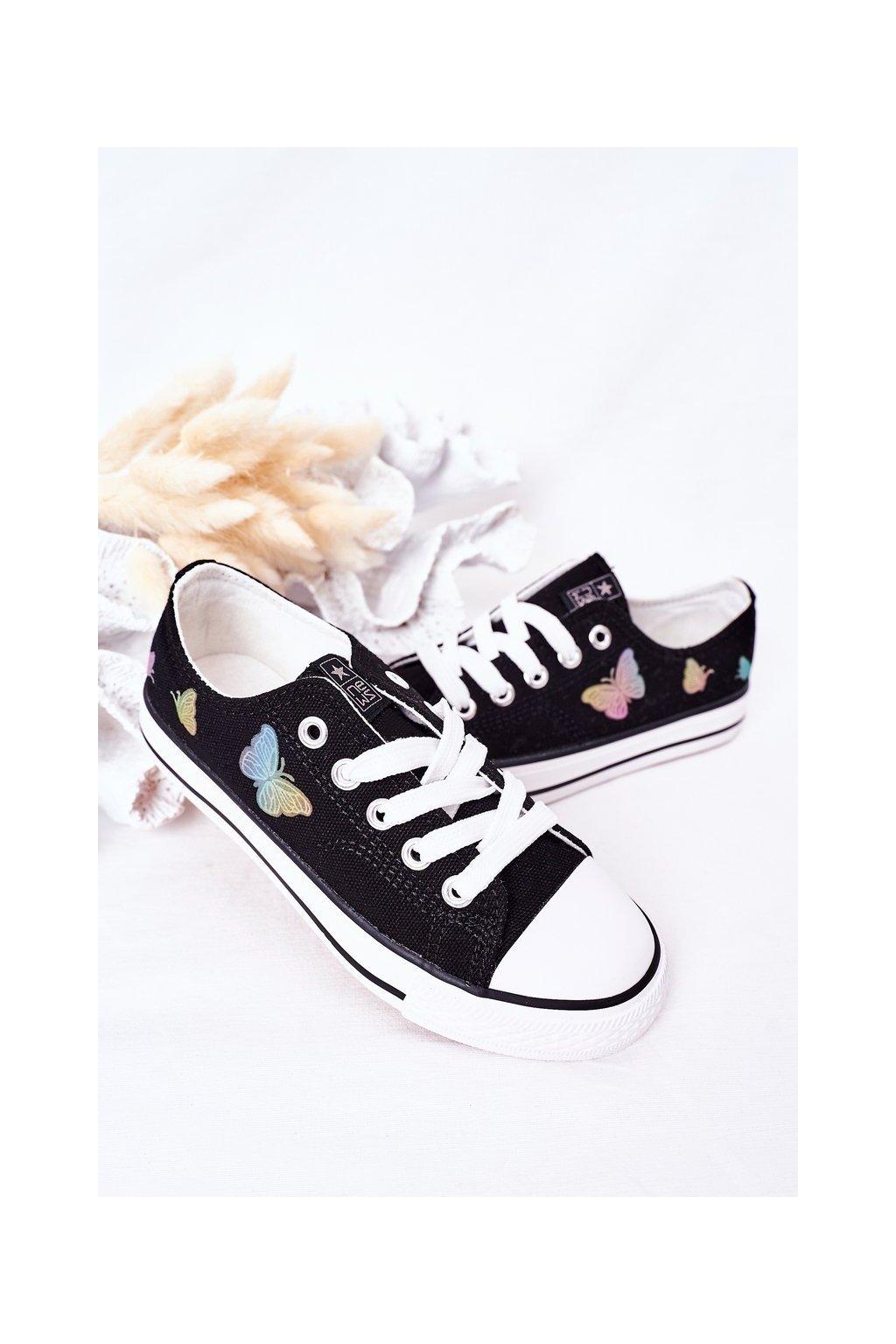Detské tenisky farba čierna kód obuvi 21DZ35-3585 BLACK