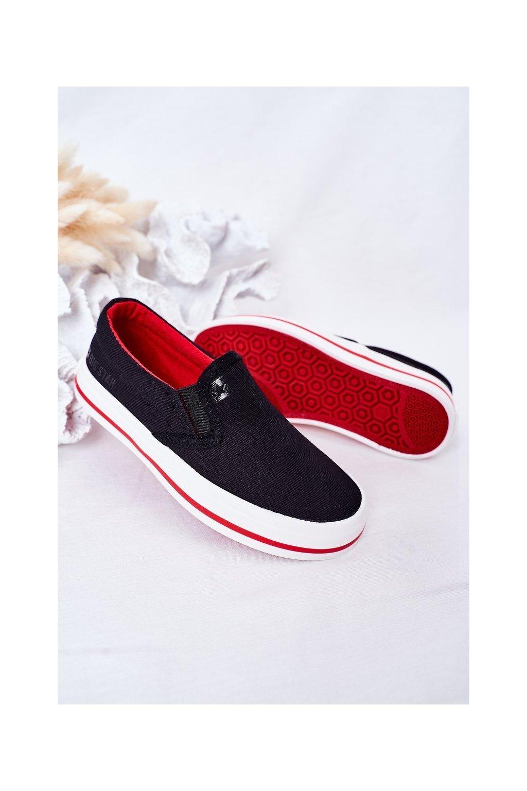 Detské tenisky farba čierna kód obuvi HH374013 BLACK