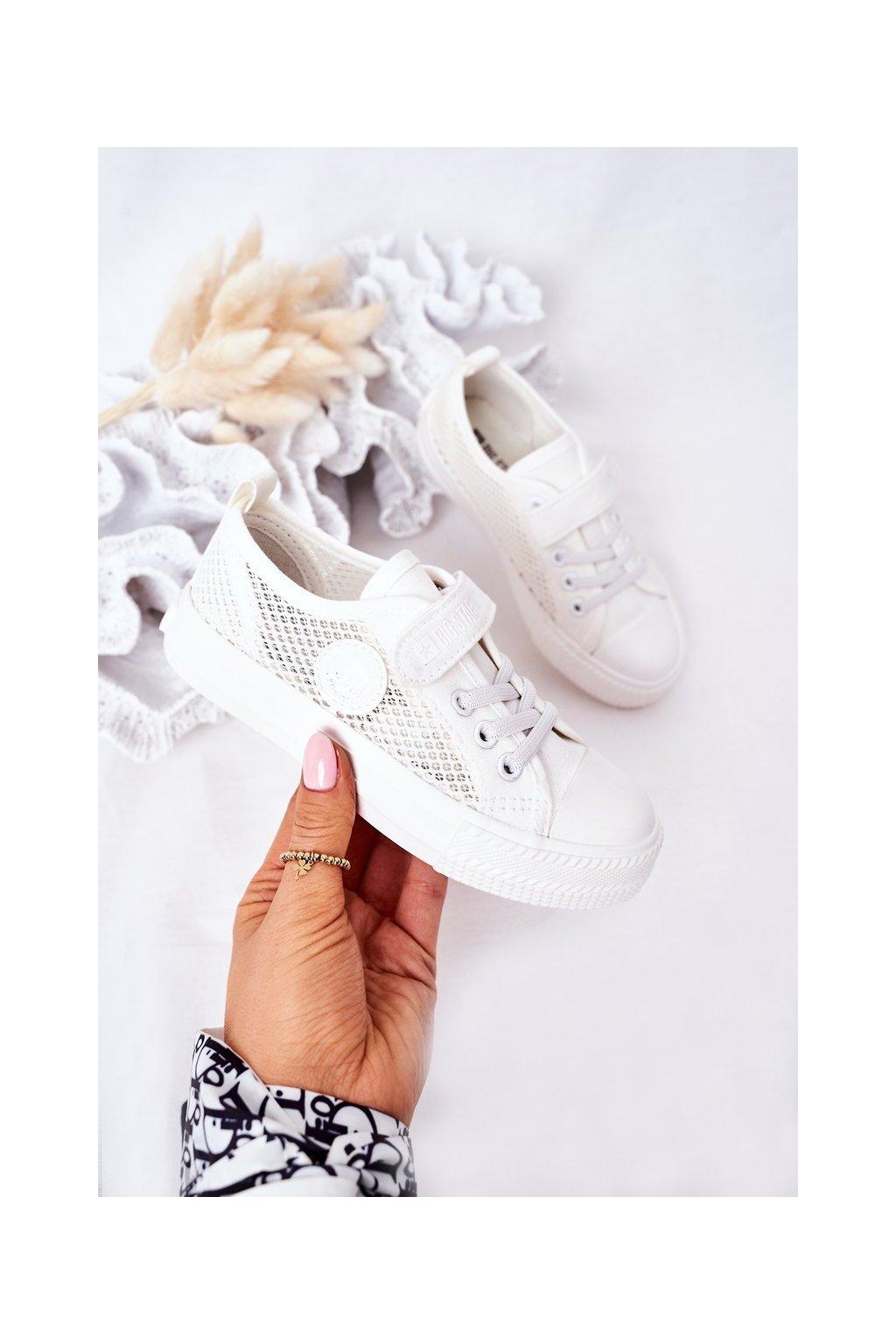 Detské tenisky farba biela kód obuvi HH374014 WHITE