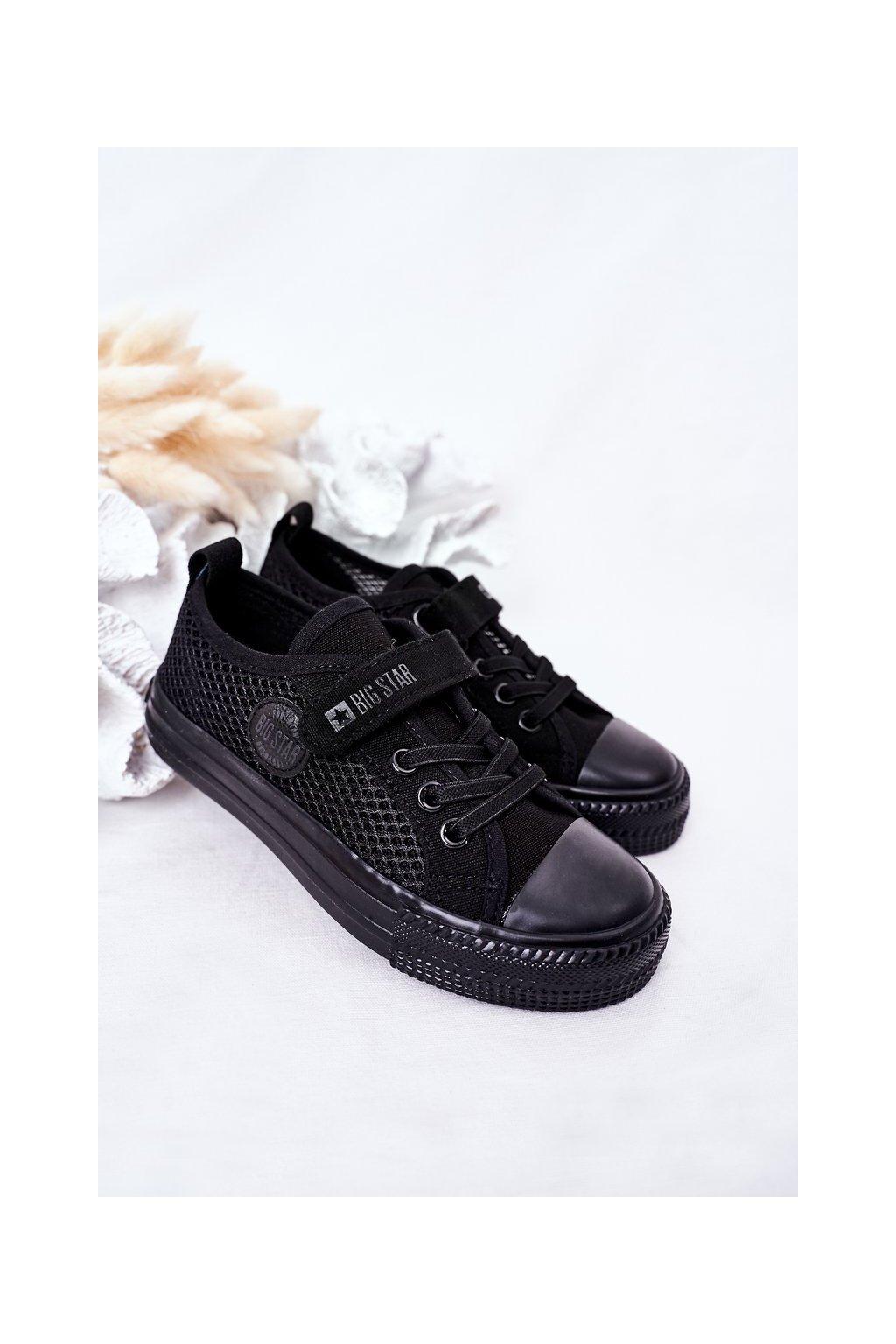 Detské tenisky farba čierna kód obuvi HH374015 BLACK